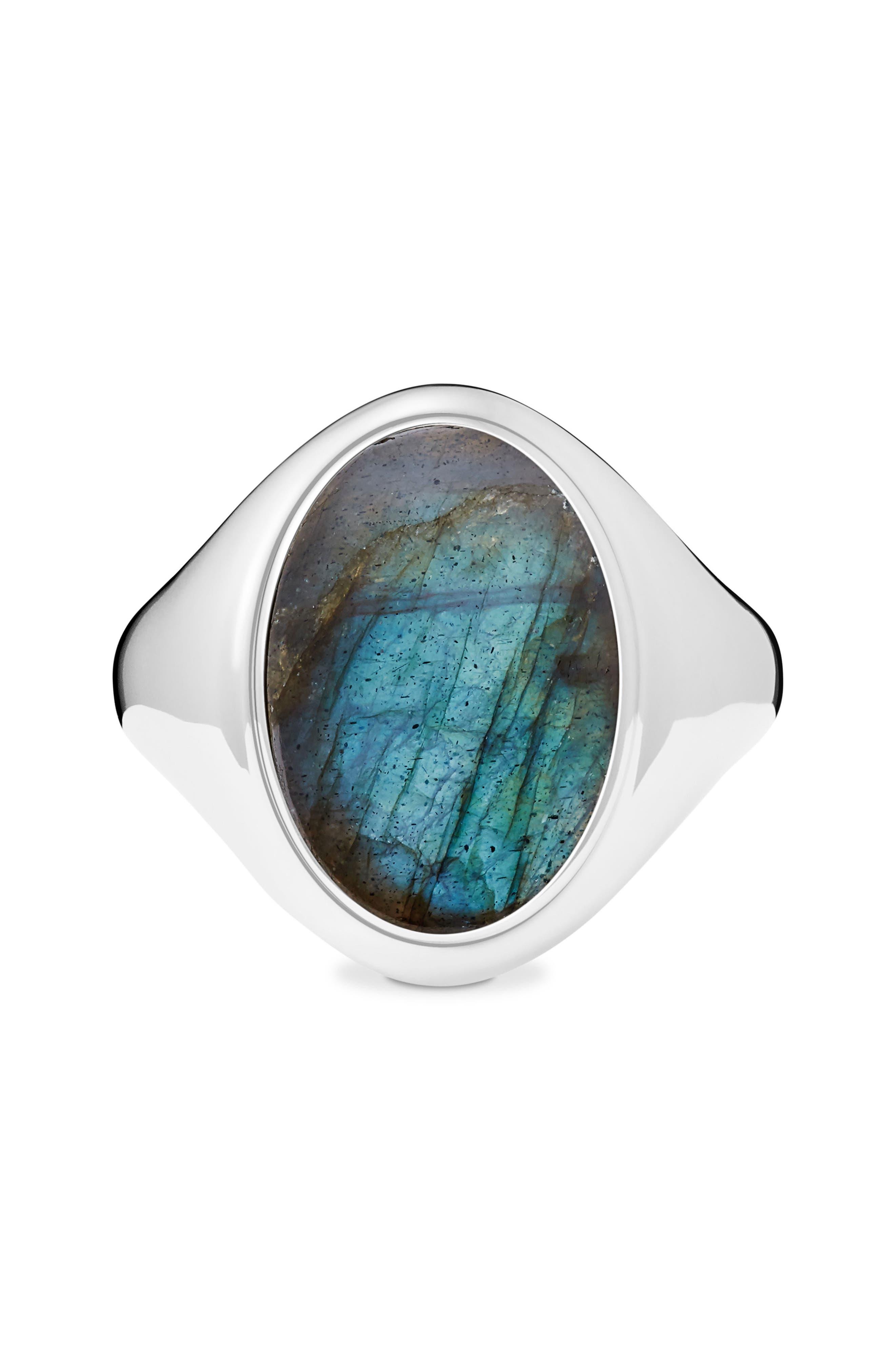 Shinola Statement Labradorite Signet Ring