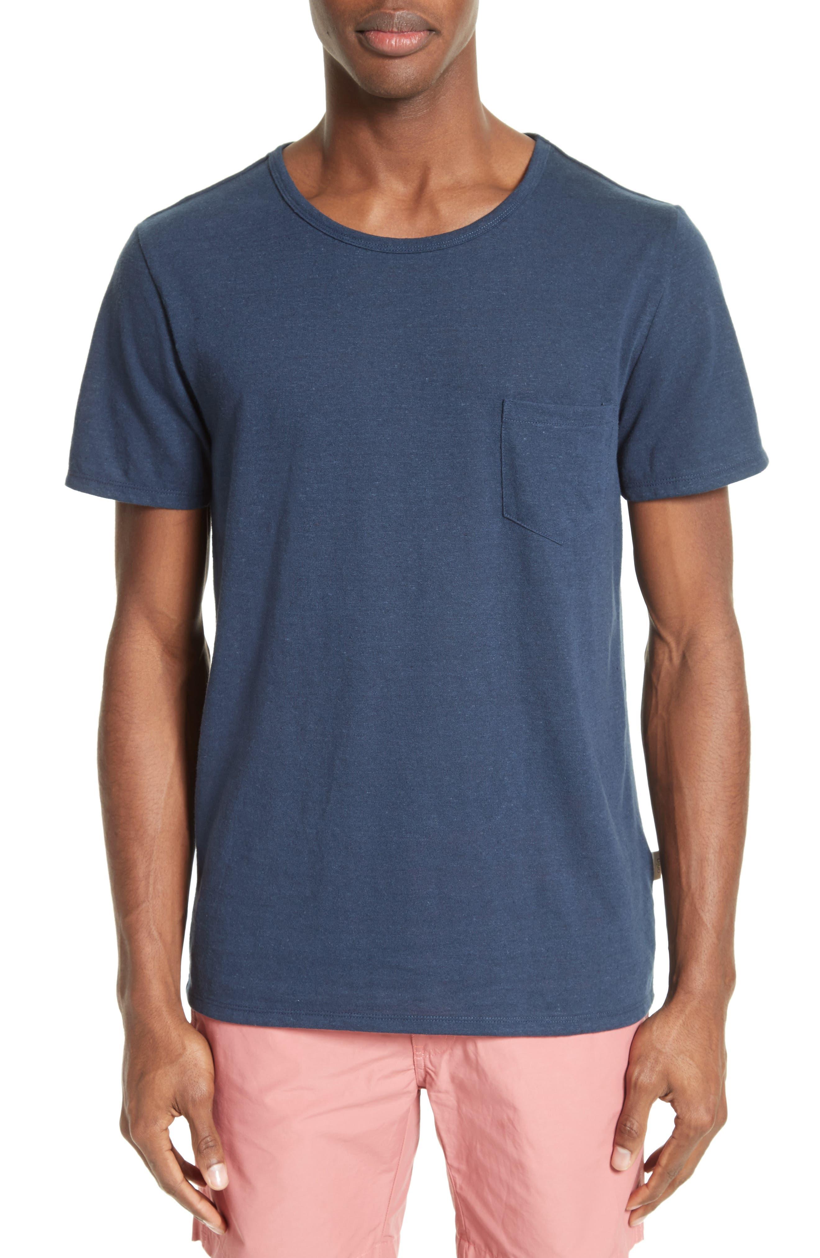 Main Image - ONIA Chad Linen Blend Pocket T-Shirt