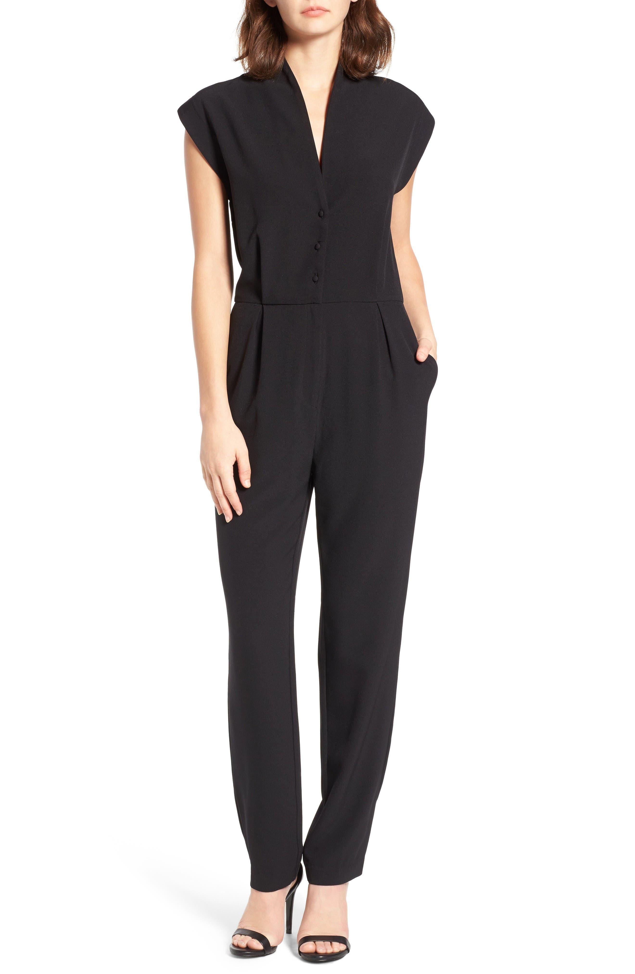 Hanna Jumpsuit,                         Main,                         color, Black