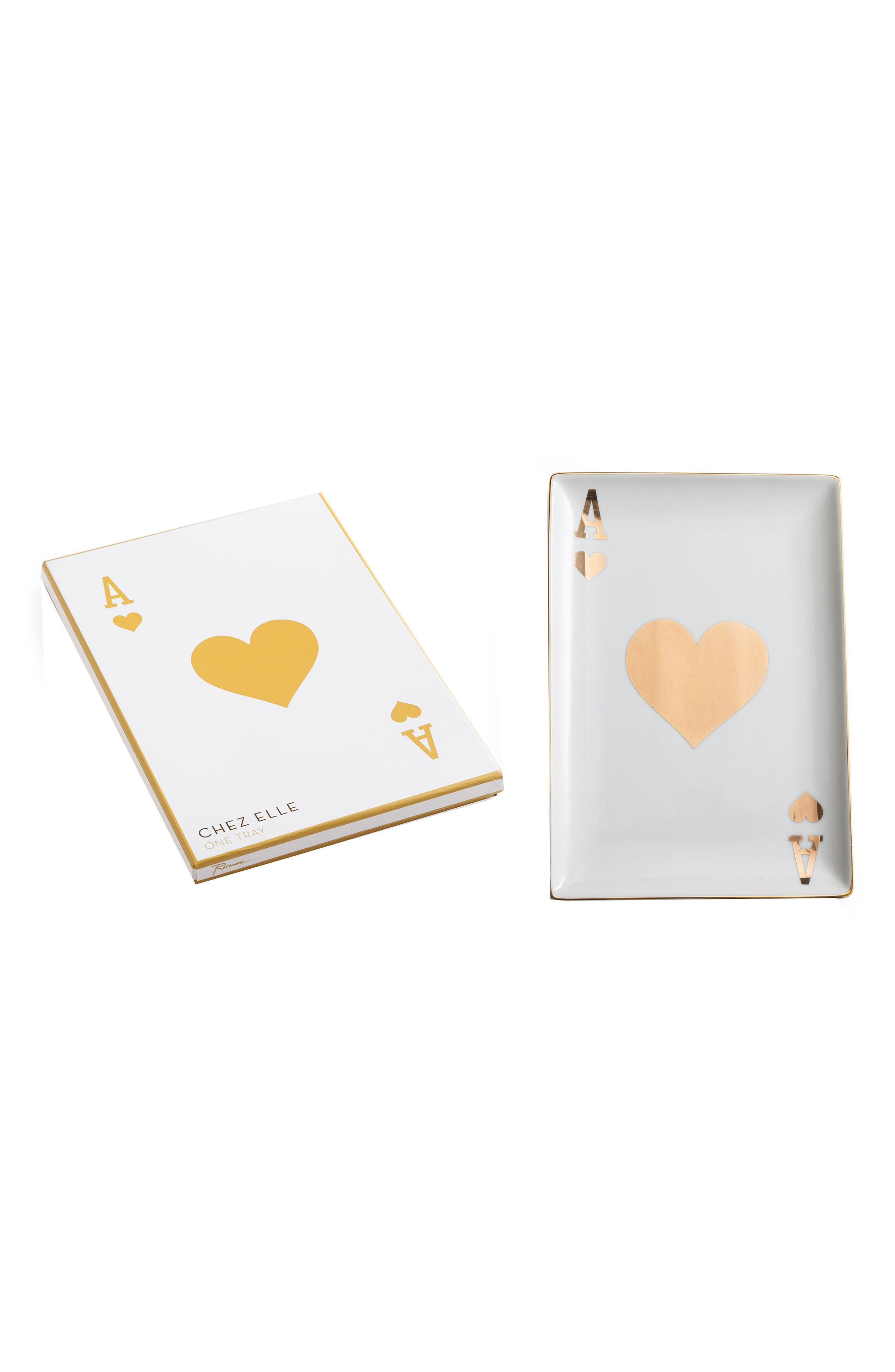 Playing Card Porcelain Trinket Tray,                         Main,                         color, Ace Of Hearts