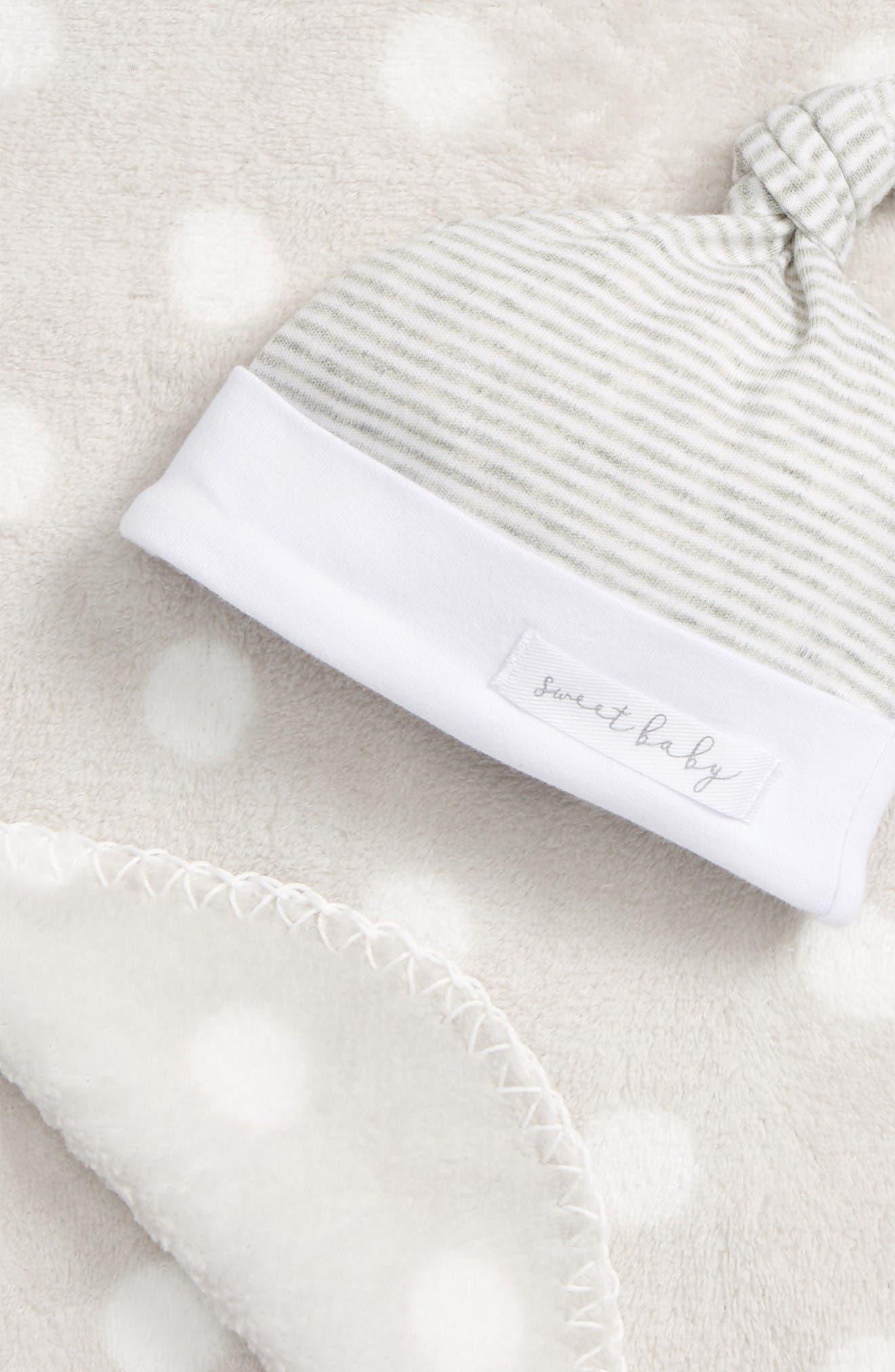 Alternate Image 2  - Mud Pie Sweet Baby Receiving Blanket & Hat Set