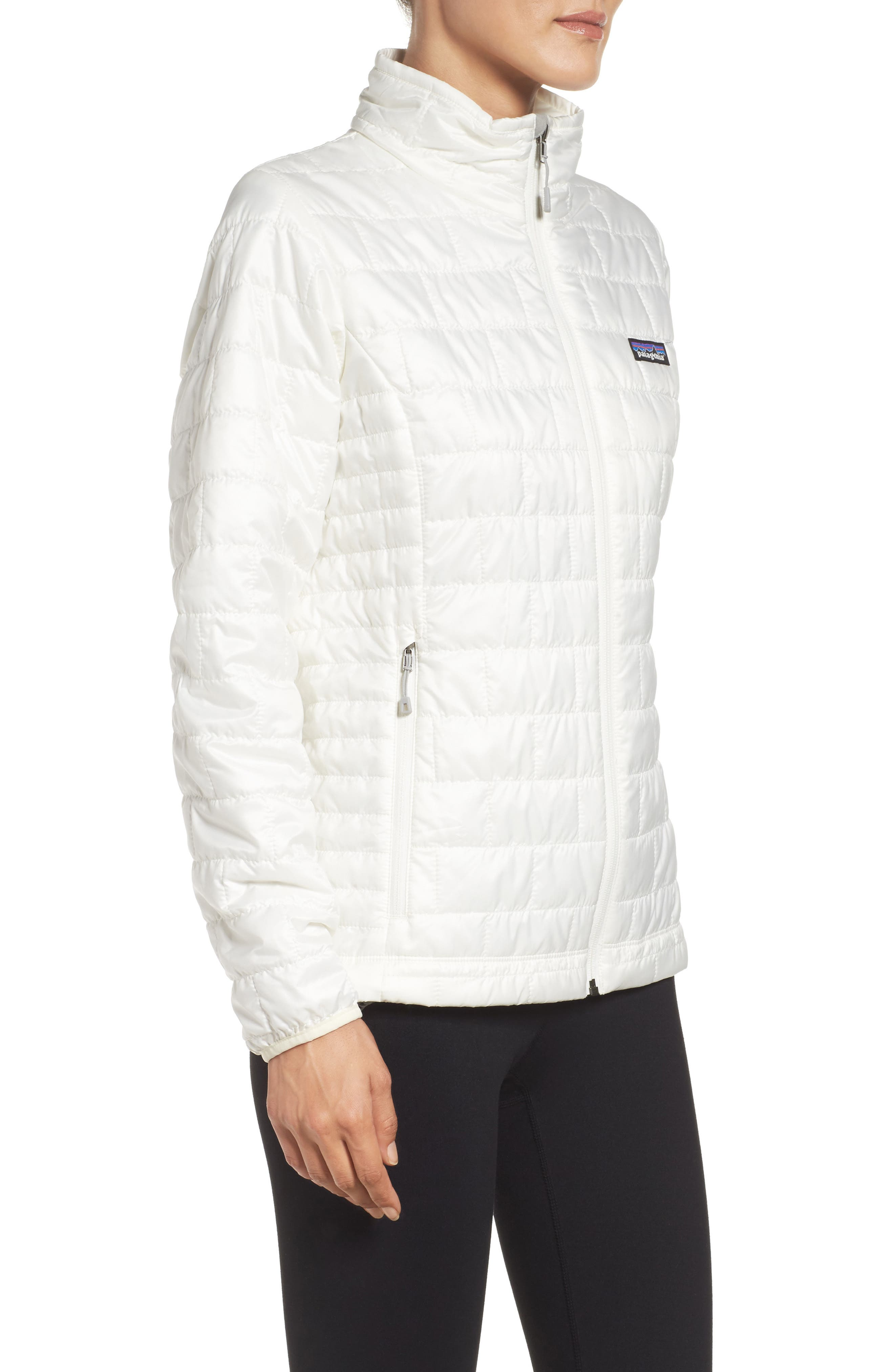 Nano Puff<sup>®</sup> Water Resistant Jacket,                             Alternate thumbnail 3, color,                             Birch White