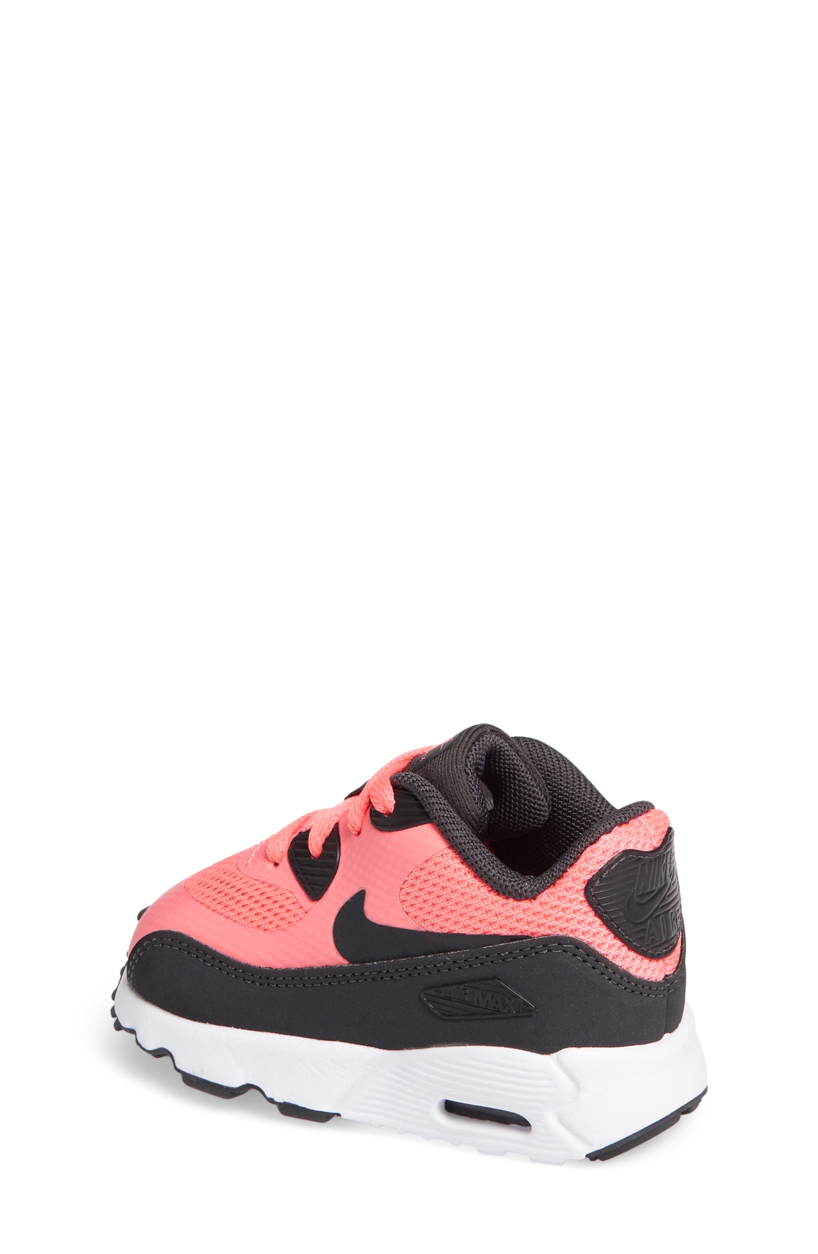 Air Max 90 Ultra 2.0 Sneaker,                             Alternate thumbnail 2, color,                             Lava Glow/ Anthracite/ White
