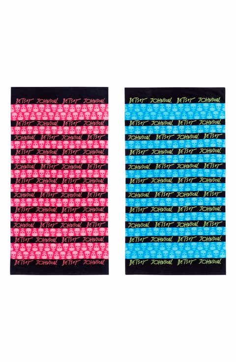 beach towel. Betsey Johnson Skull Stripe Beach Towel Set Towels  Blankets Nordstrom