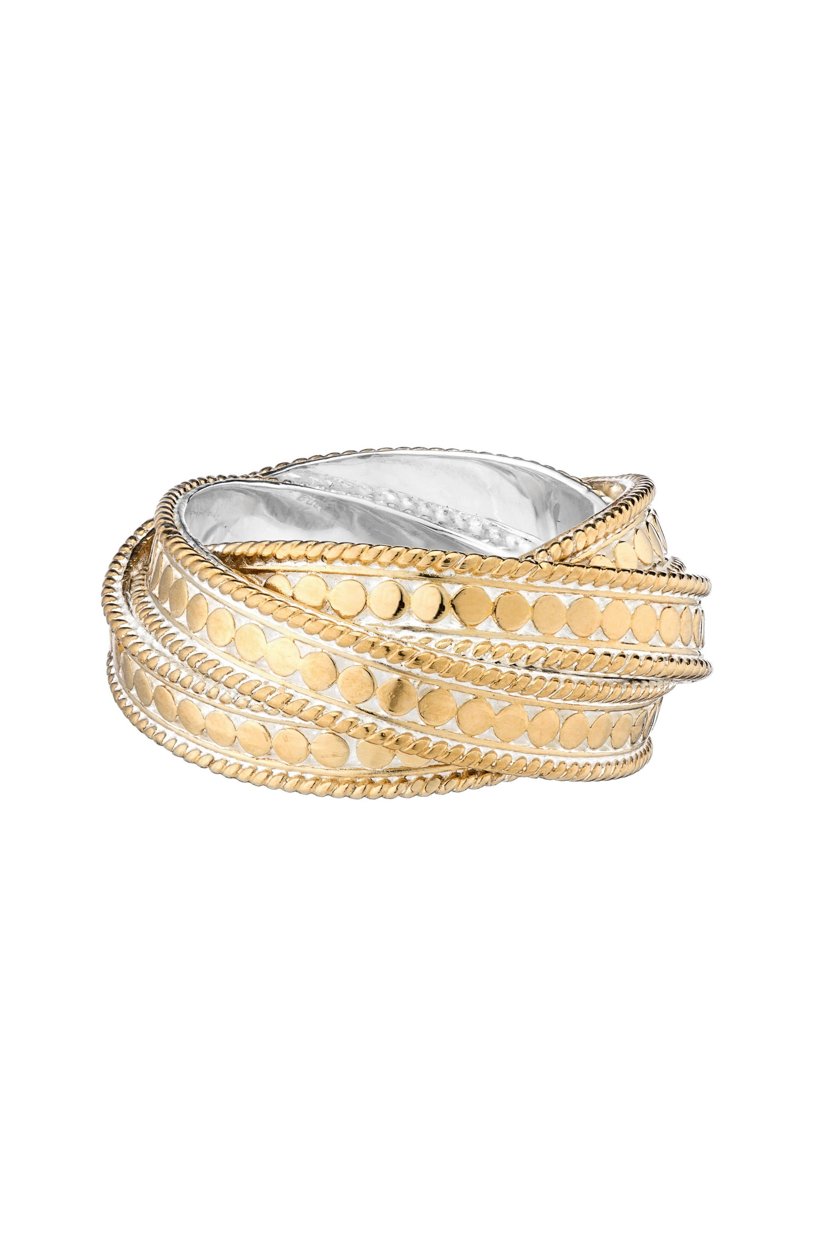 ANNA BECK 'Timor' Twist Ring (Nordstrom Exclusive) in Gold / Silver