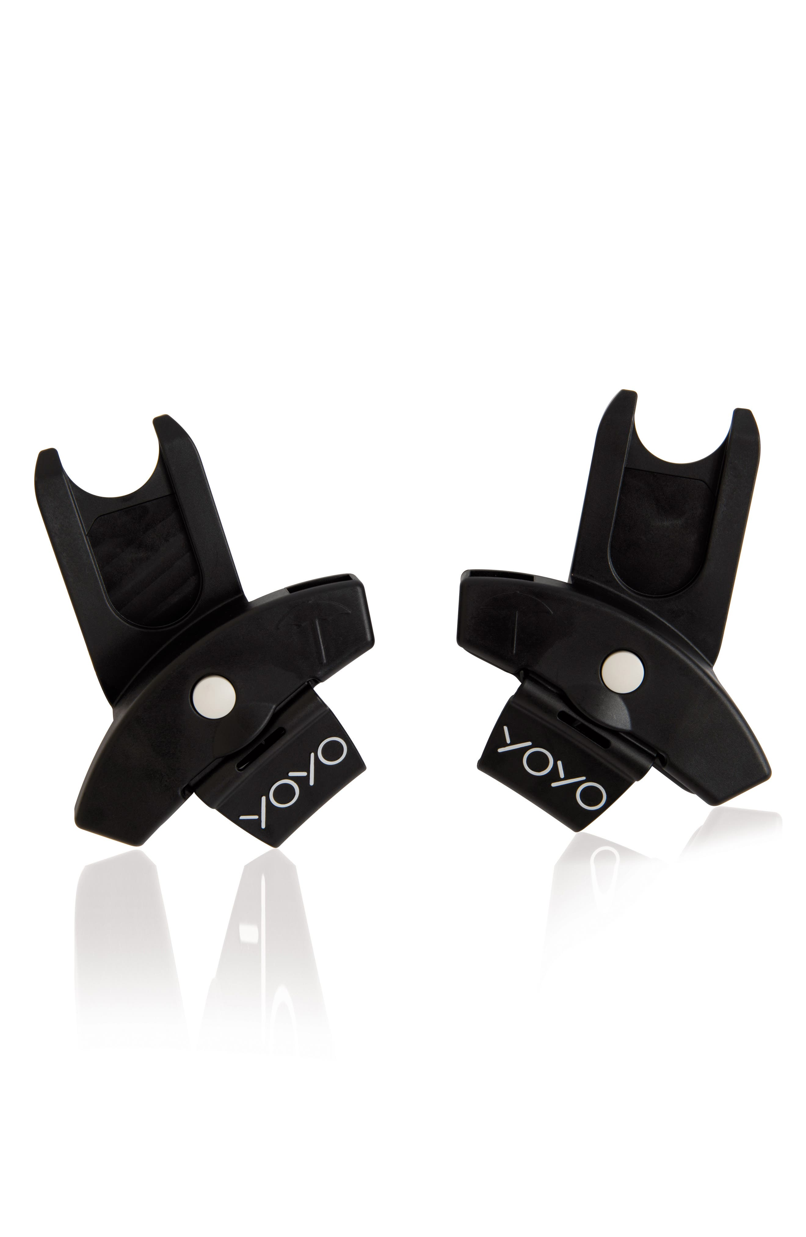Babyzen Adapters for YOYO+ Stroller & Cybex, Nuna and Maxi-Cosi<sup>®</sup> Infant Car Seats,                         Main,                         color, Black
