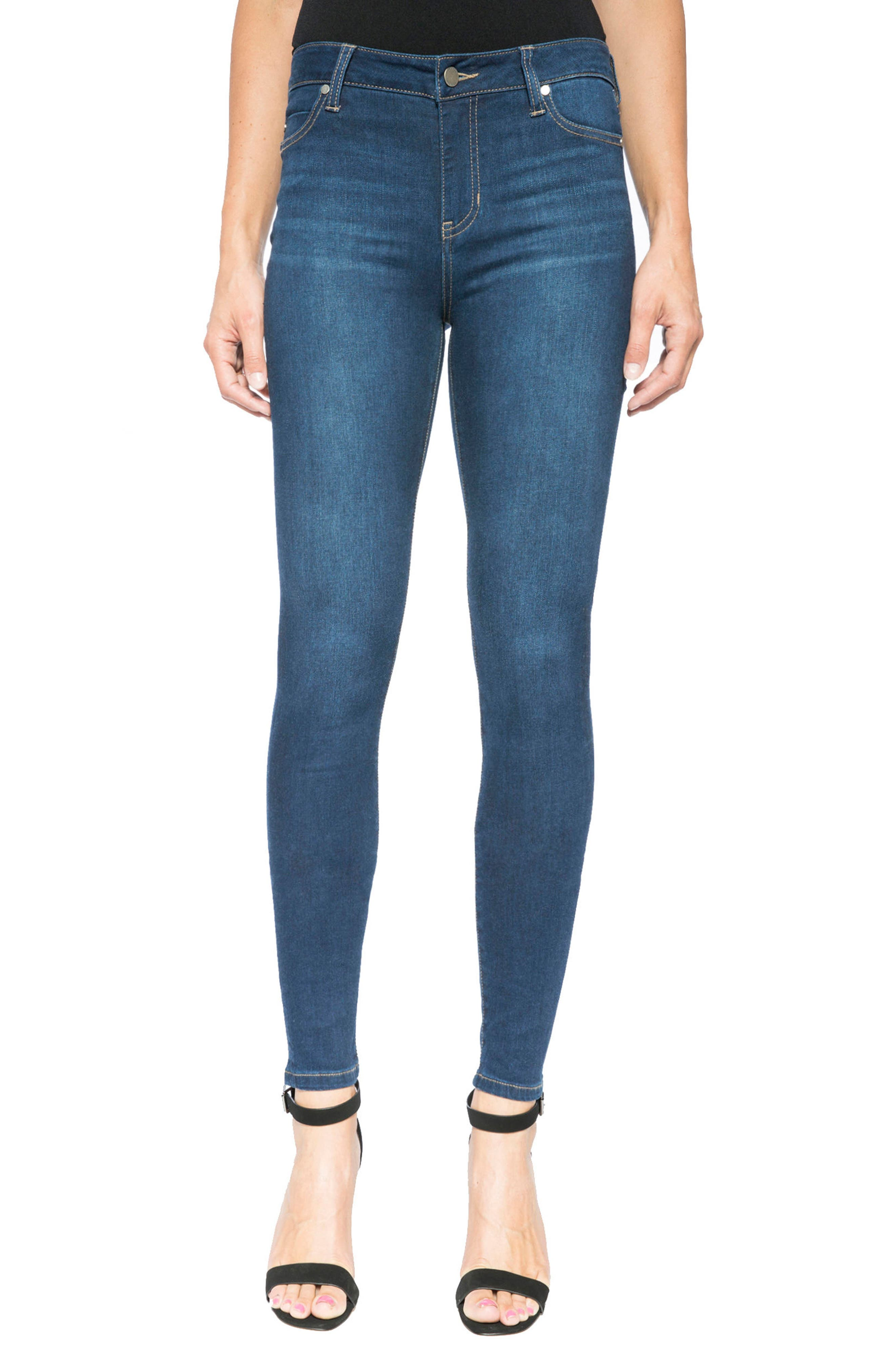 Liverpool Jeans Company Abby Stretch Curvy Fit Skinny Jeans (Manchestor) (Petite)