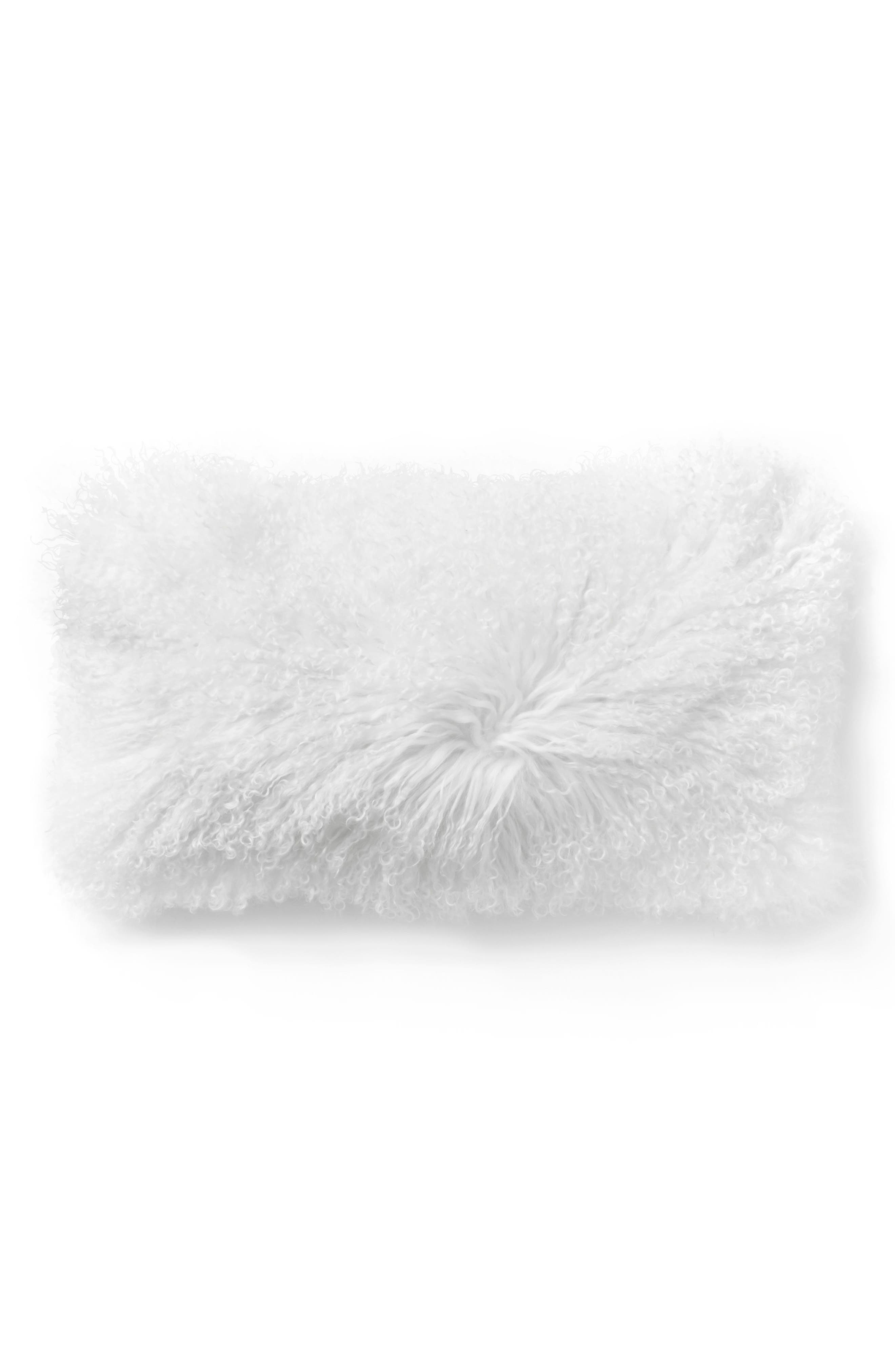 Alternate Image 1 Selected - Donna Karan Collection Flokati Genuine Sheepskin Pillow