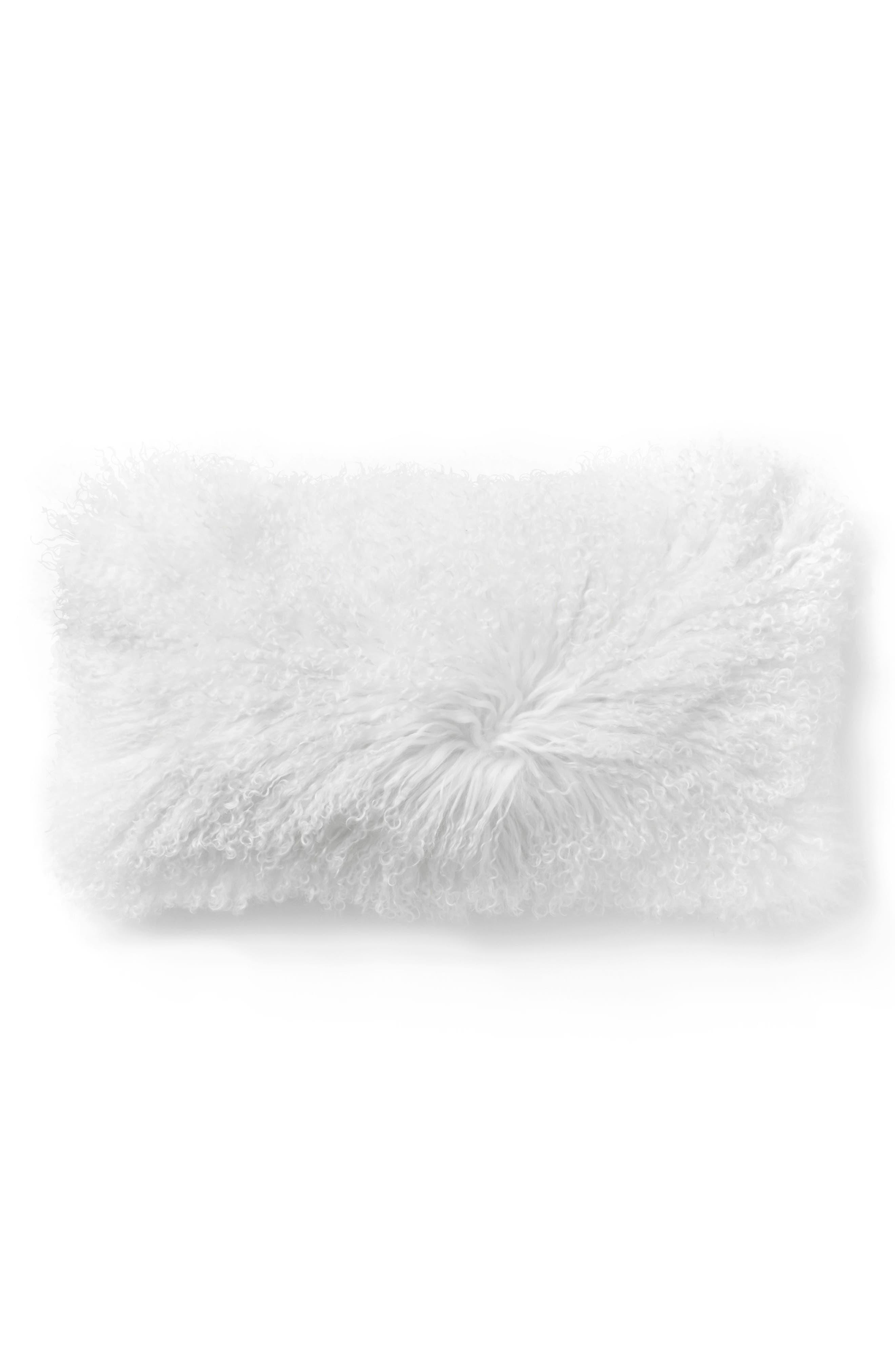 Main Image - Donna Karan Collection Flokati Genuine Sheepskin Pillow