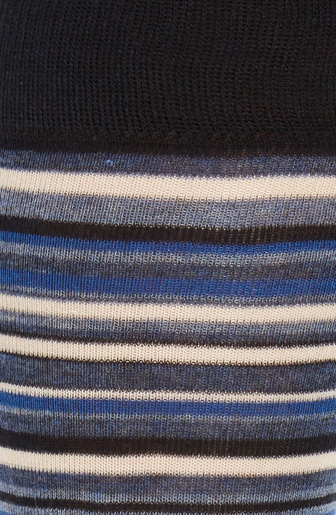 Town Stripe Crew Socks,                             Alternate thumbnail 2, color,                             Navy/ Astor Blue Stripe