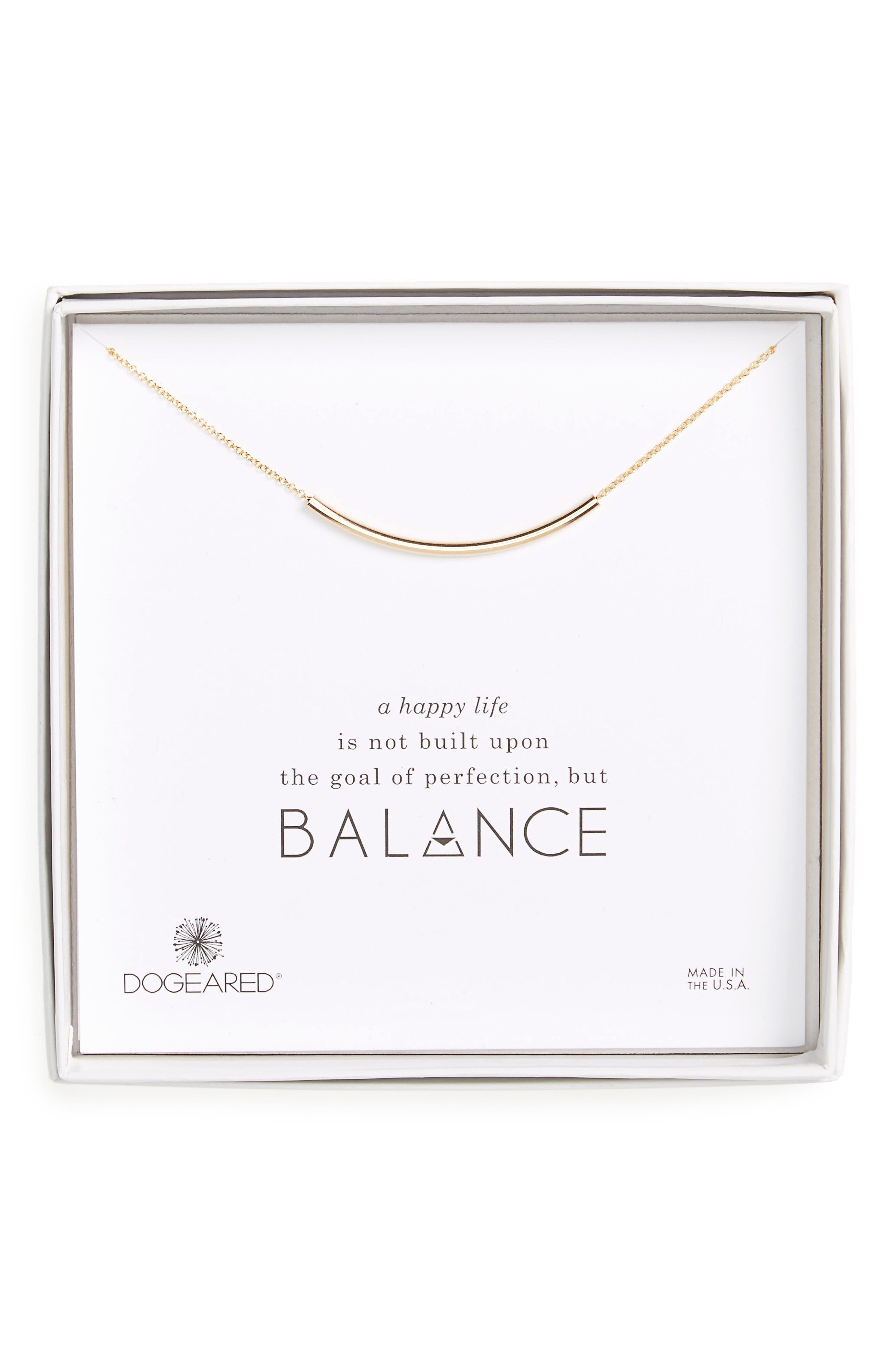 Balance Tube Chain Necklace,                             Alternate thumbnail 4, color,                             Gold