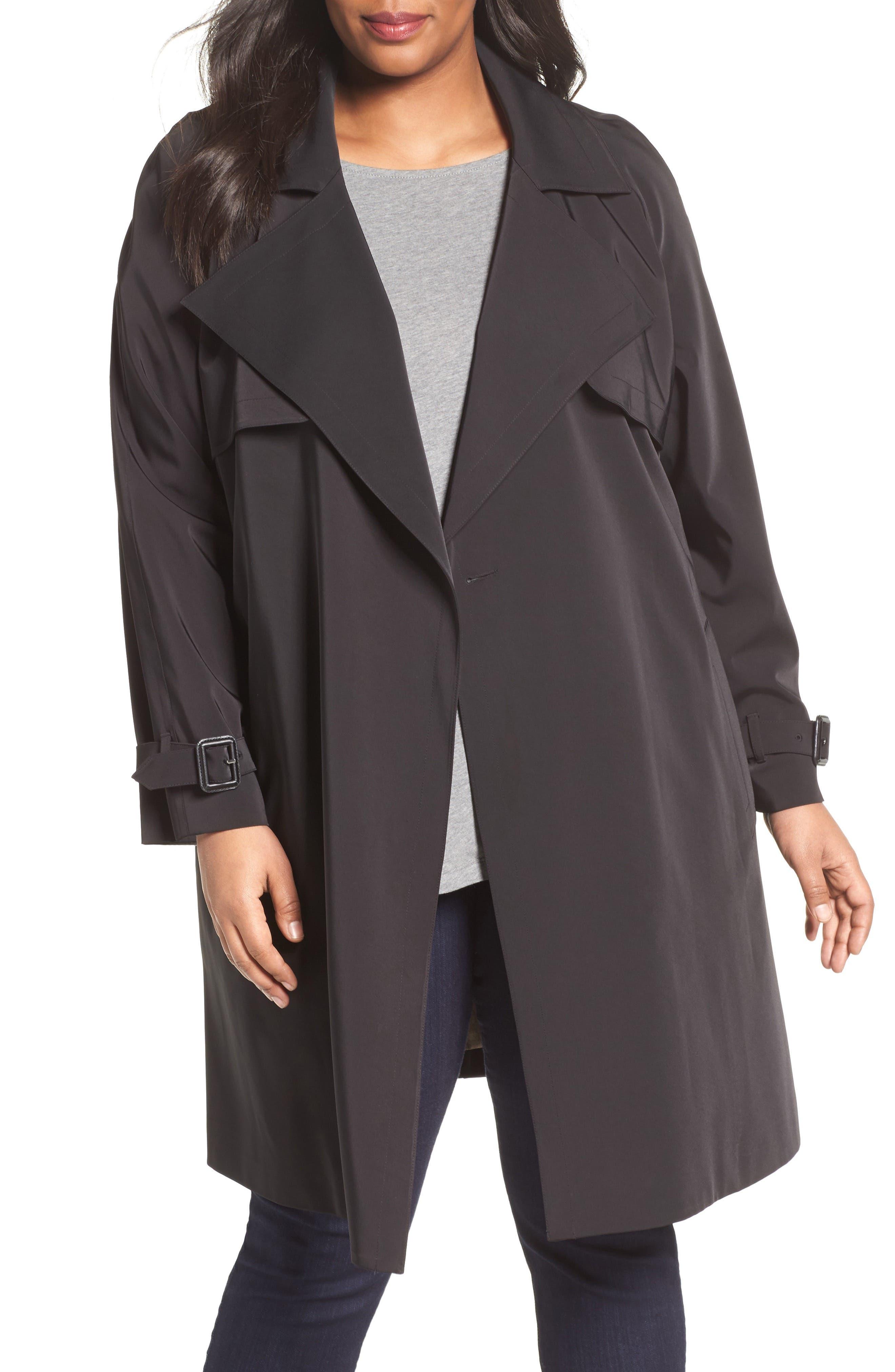 Main Image - MICHAEL Michael Kors Trench Coat (Plus Size)