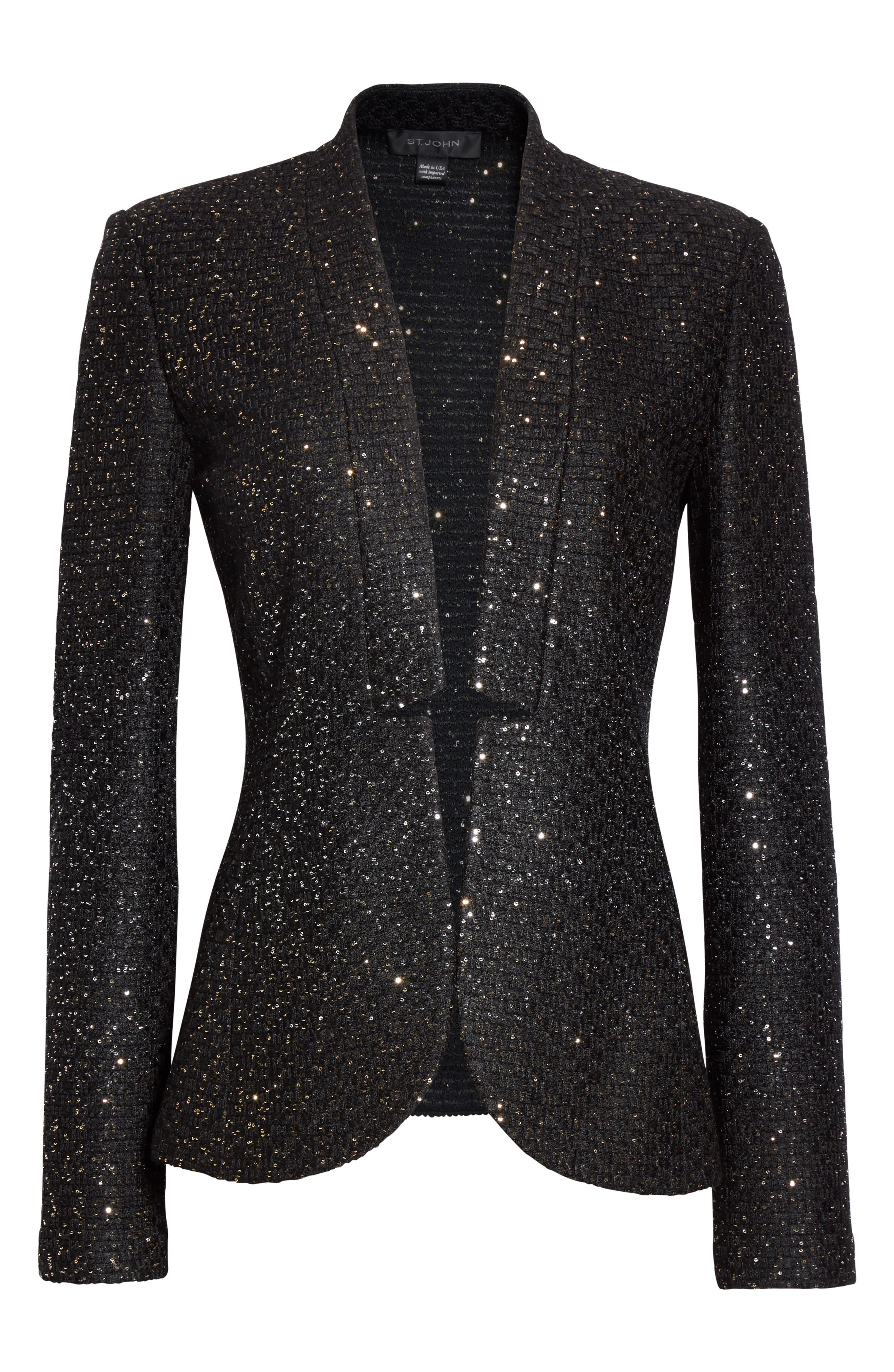 Alternate Image 6  - St. John Collection Pranay Sequin Knit Jacket