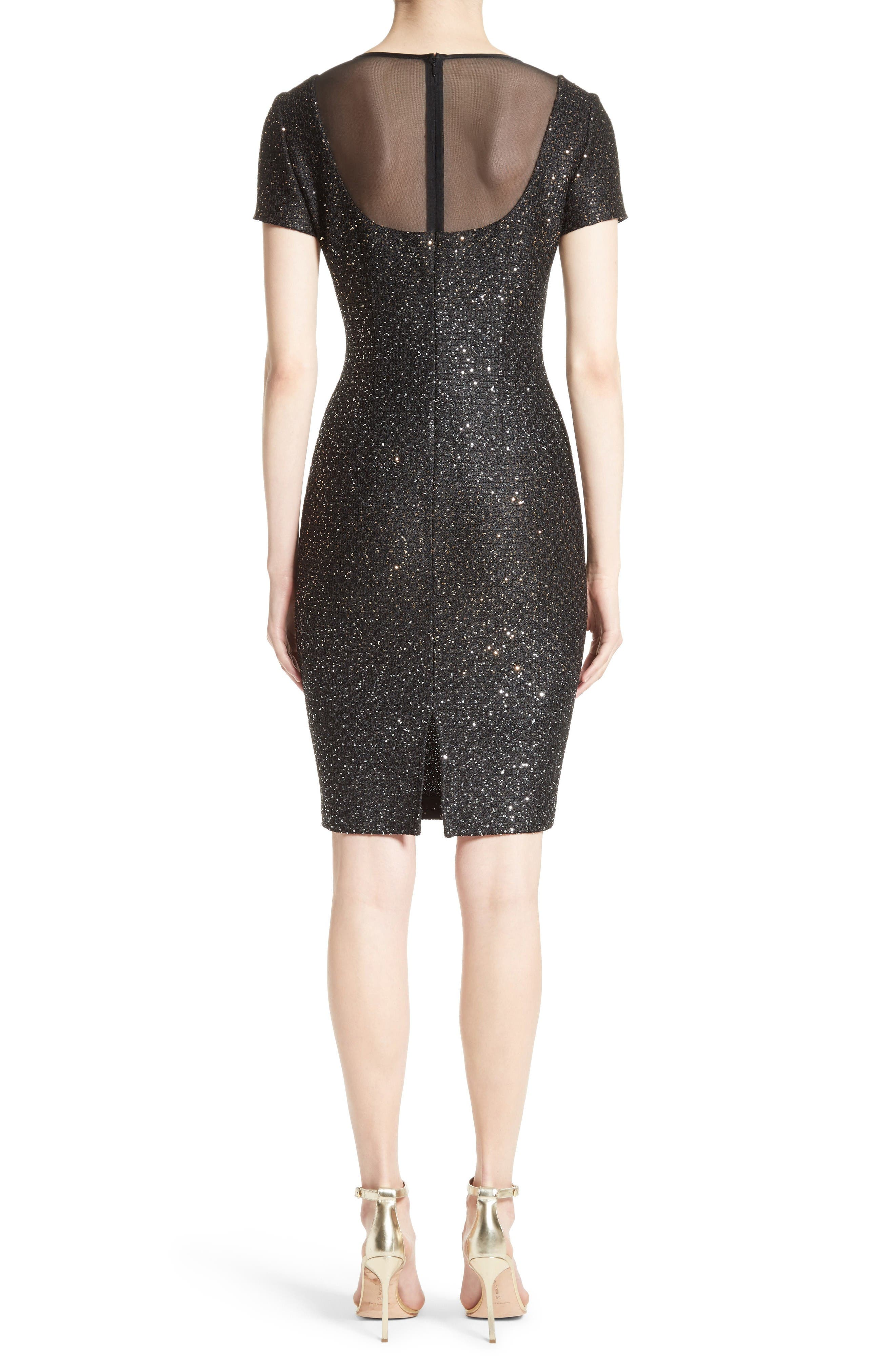 Alternate Image 2  - St. John Collection Pranay Sequin Knit Sheath Dress