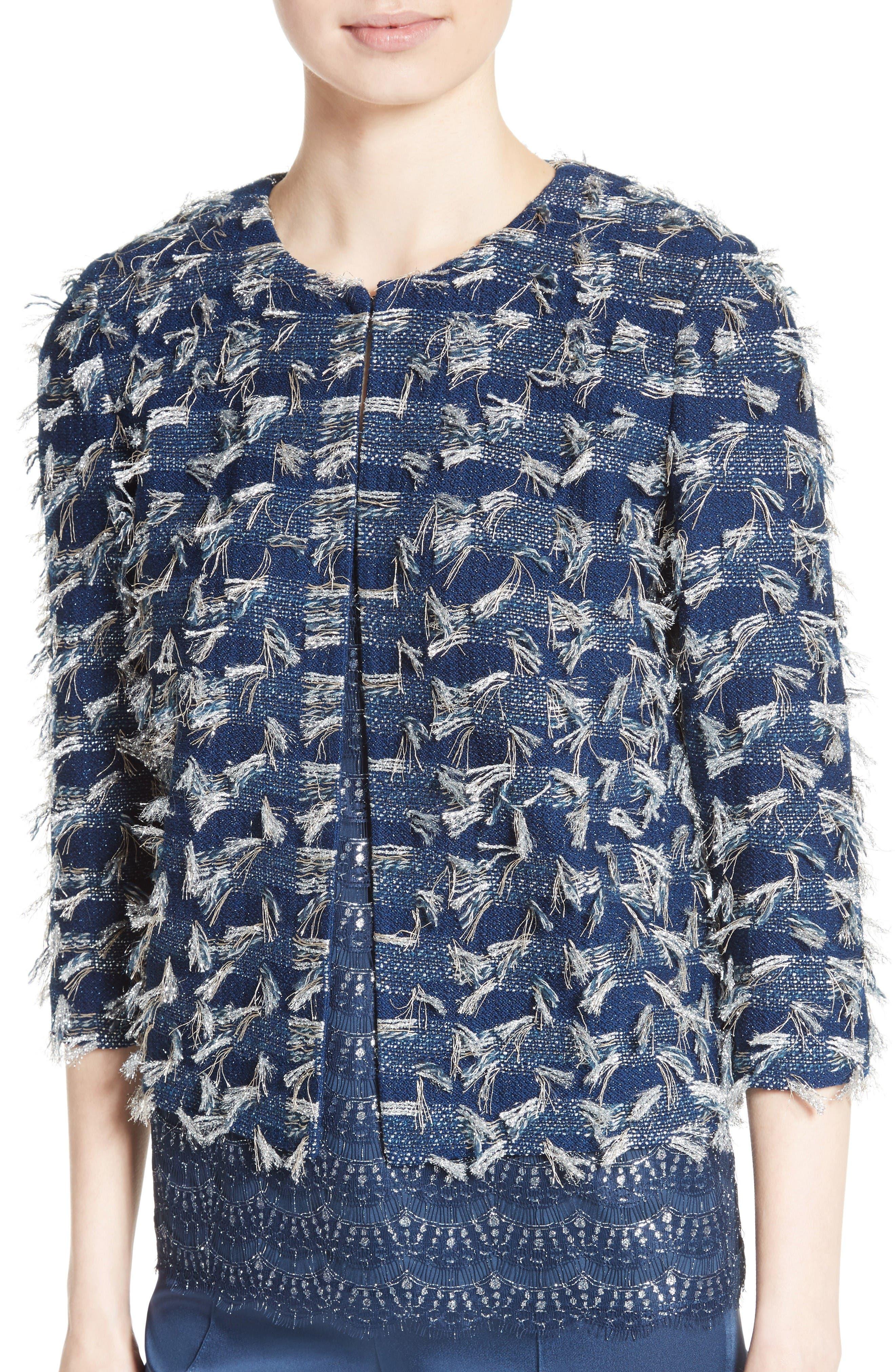 Alternate Image 4  - St. John Collection Lackshan Fil Coupé Tweed Jacket