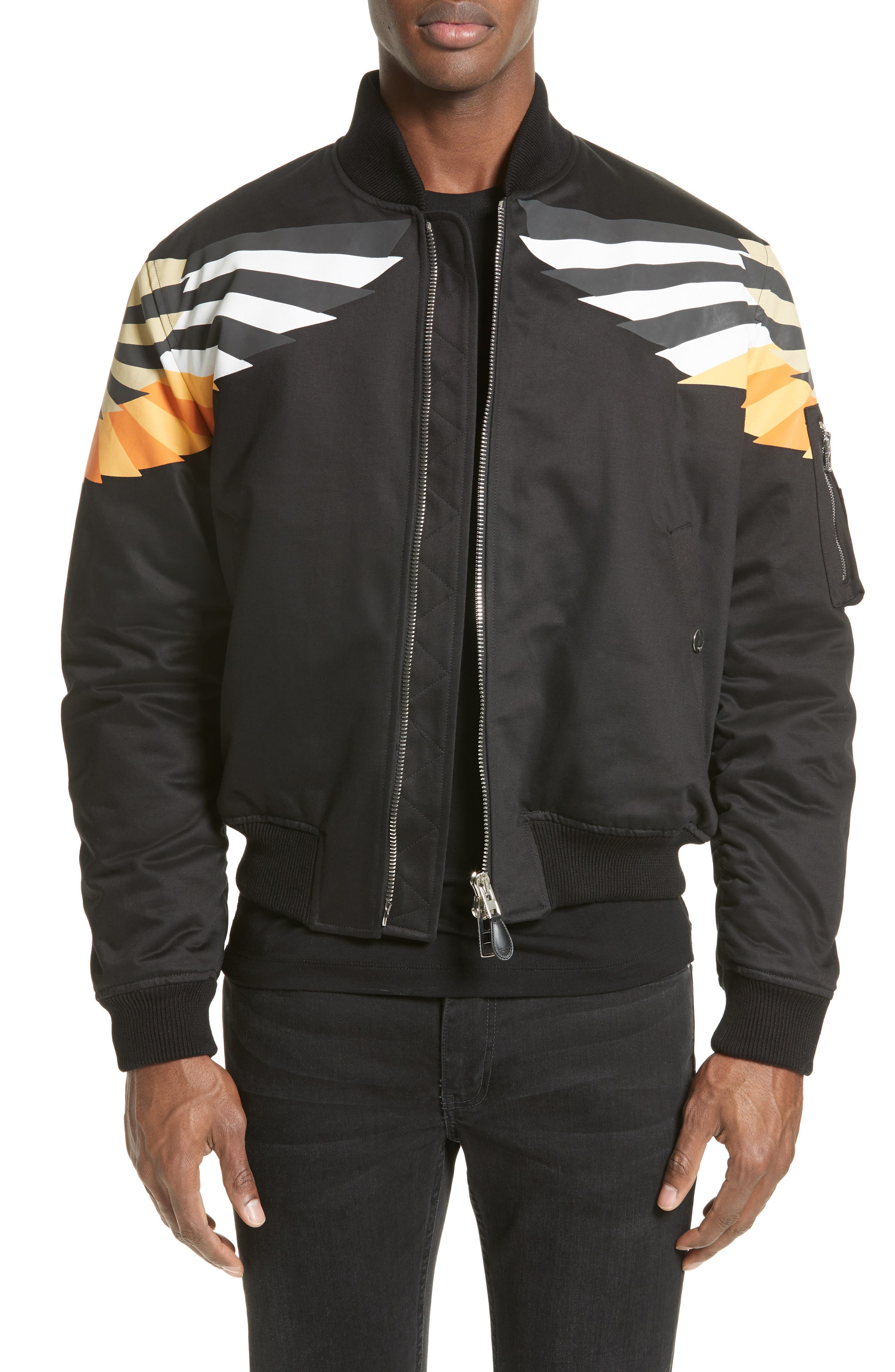 Alternate Image 1 Selected - Givenchy Wing Print Bomber Jacket