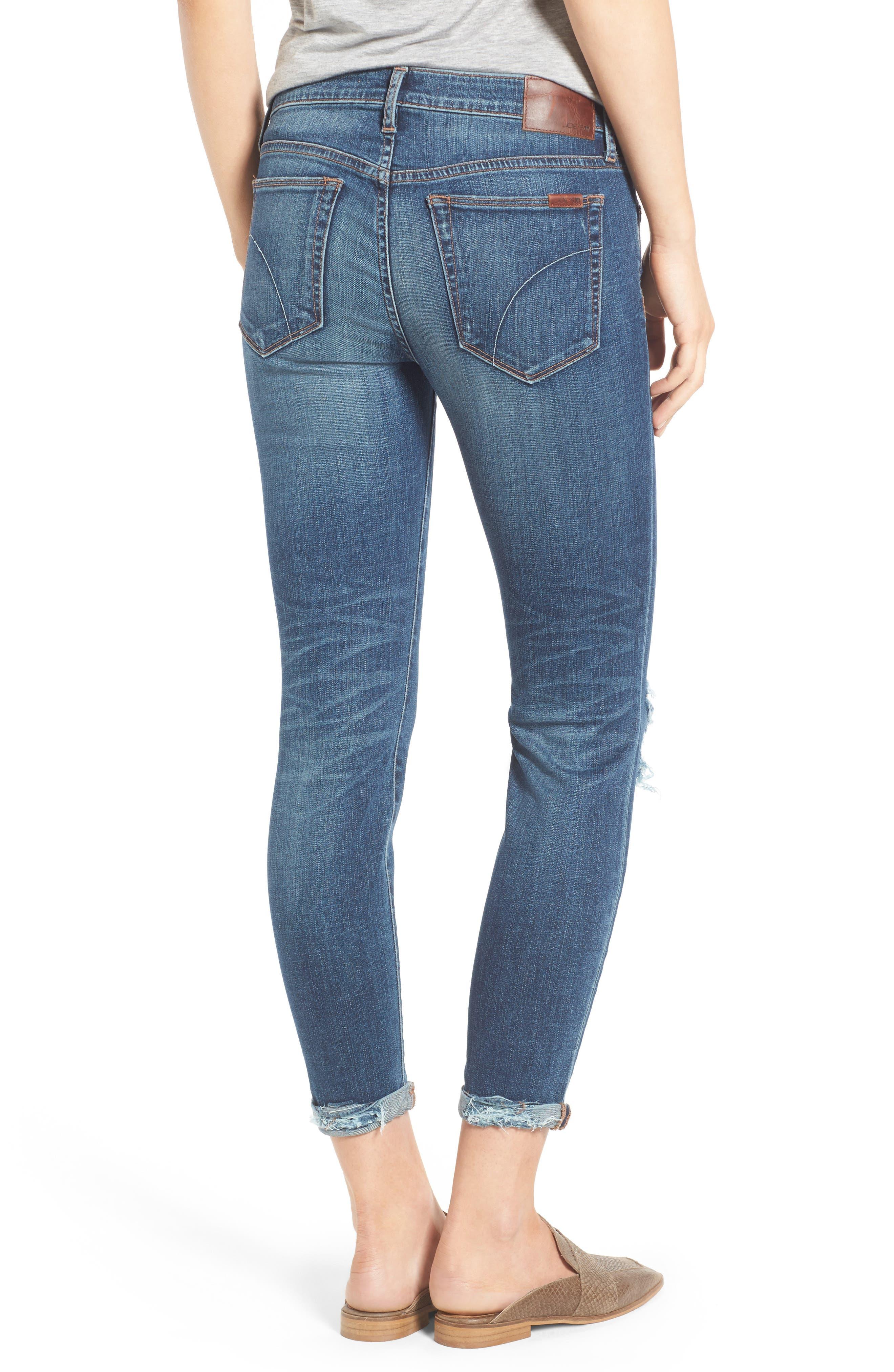 Andie Skinny Crop Jeans,                             Alternate thumbnail 2, color,                             Giada