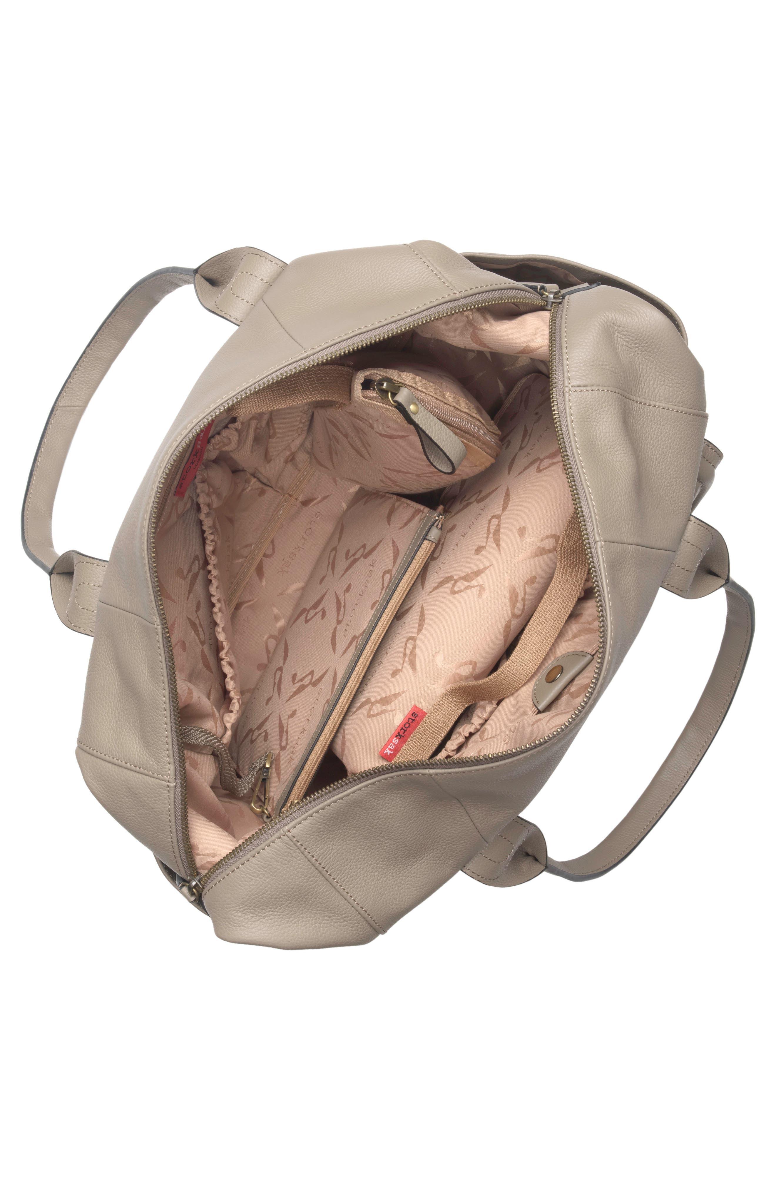 Alternate Image 4  - Storsak Leather Diaper Bag