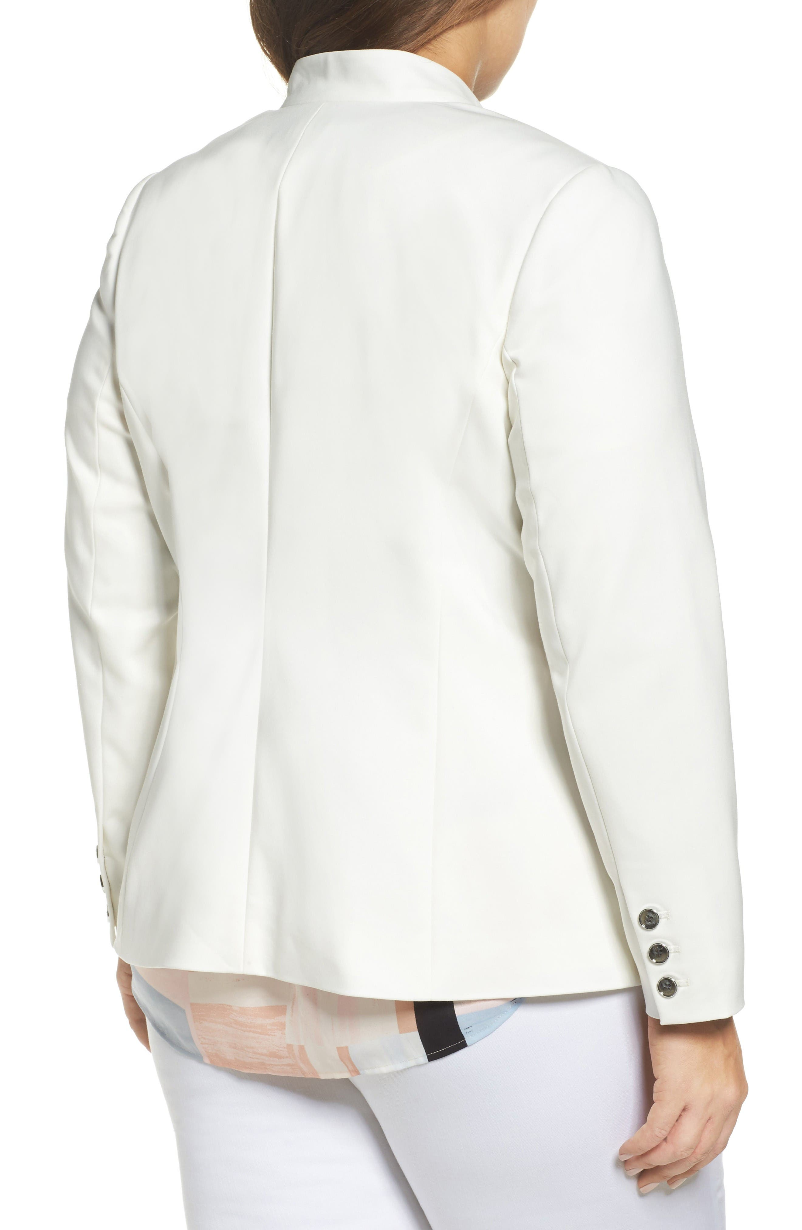 Alternate Image 2  - Vince Camuto One-Button Blazer (Plus Size)