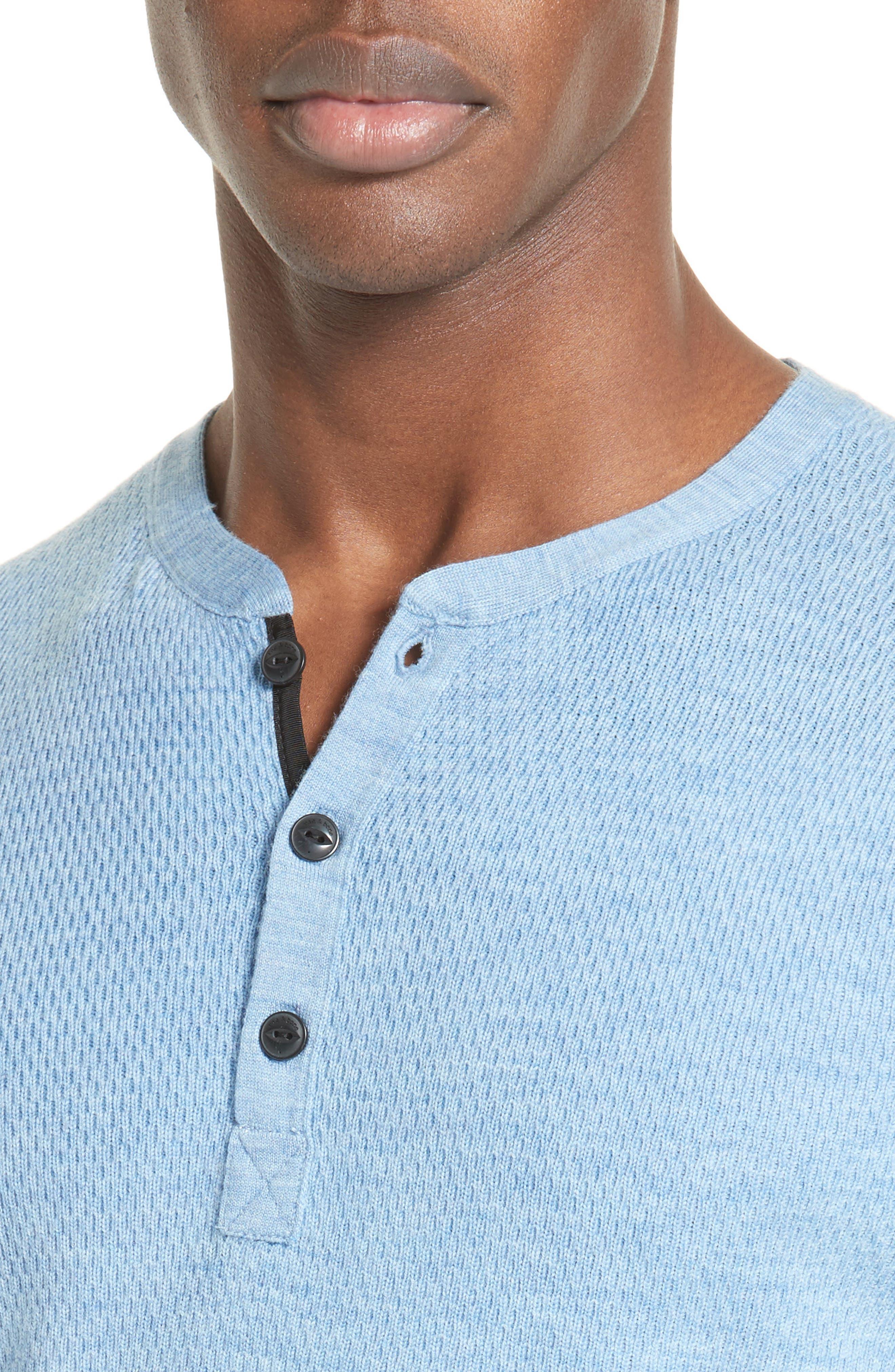Alternate Image 4  - rag & bone Gregory Wool Blend Henley Sweater