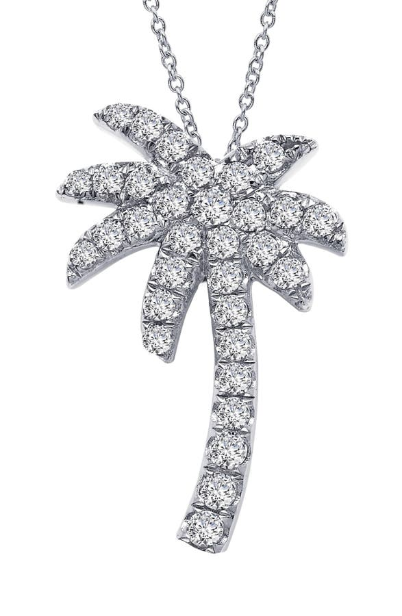 Lafonn palm tree simulated diamond pendant necklace nordstrom main image lafonn palm tree simulated diamond pendant necklace aloadofball Image collections
