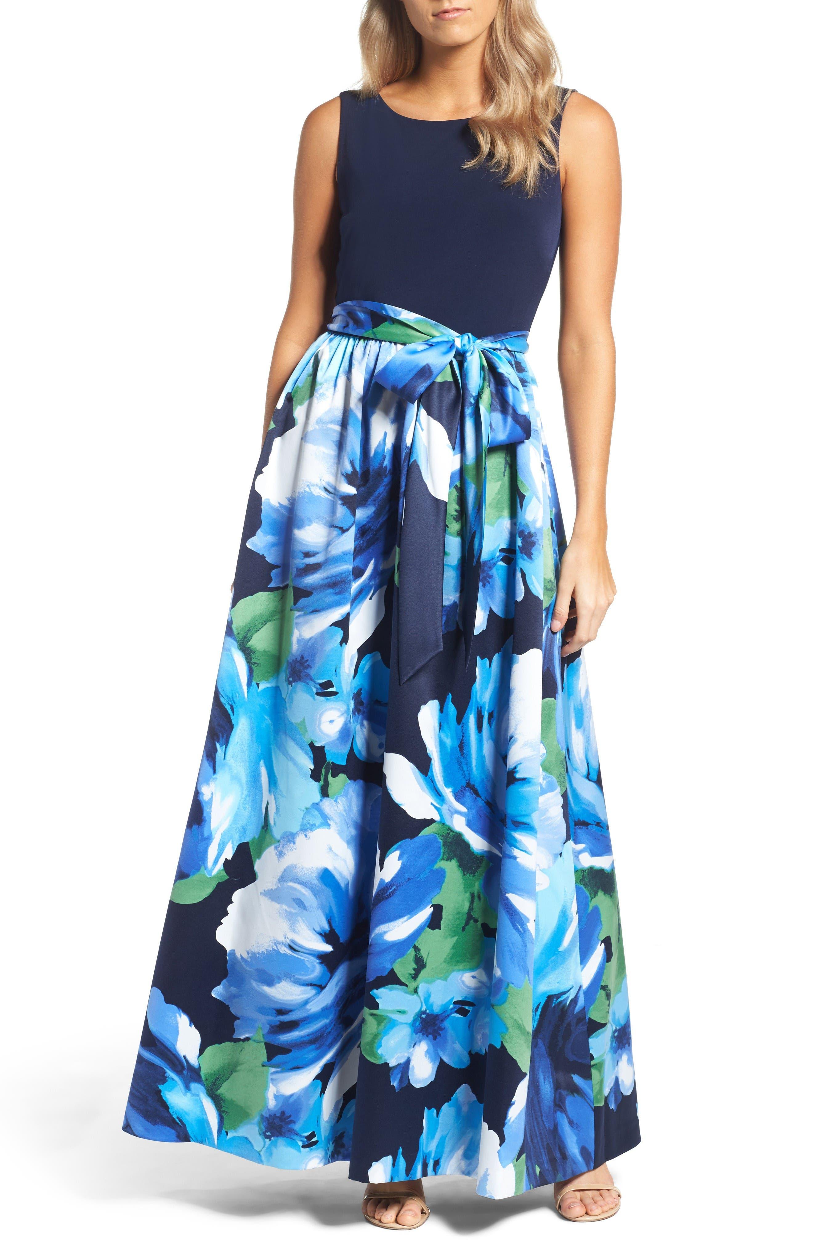 Ellen Tracy Print Gown