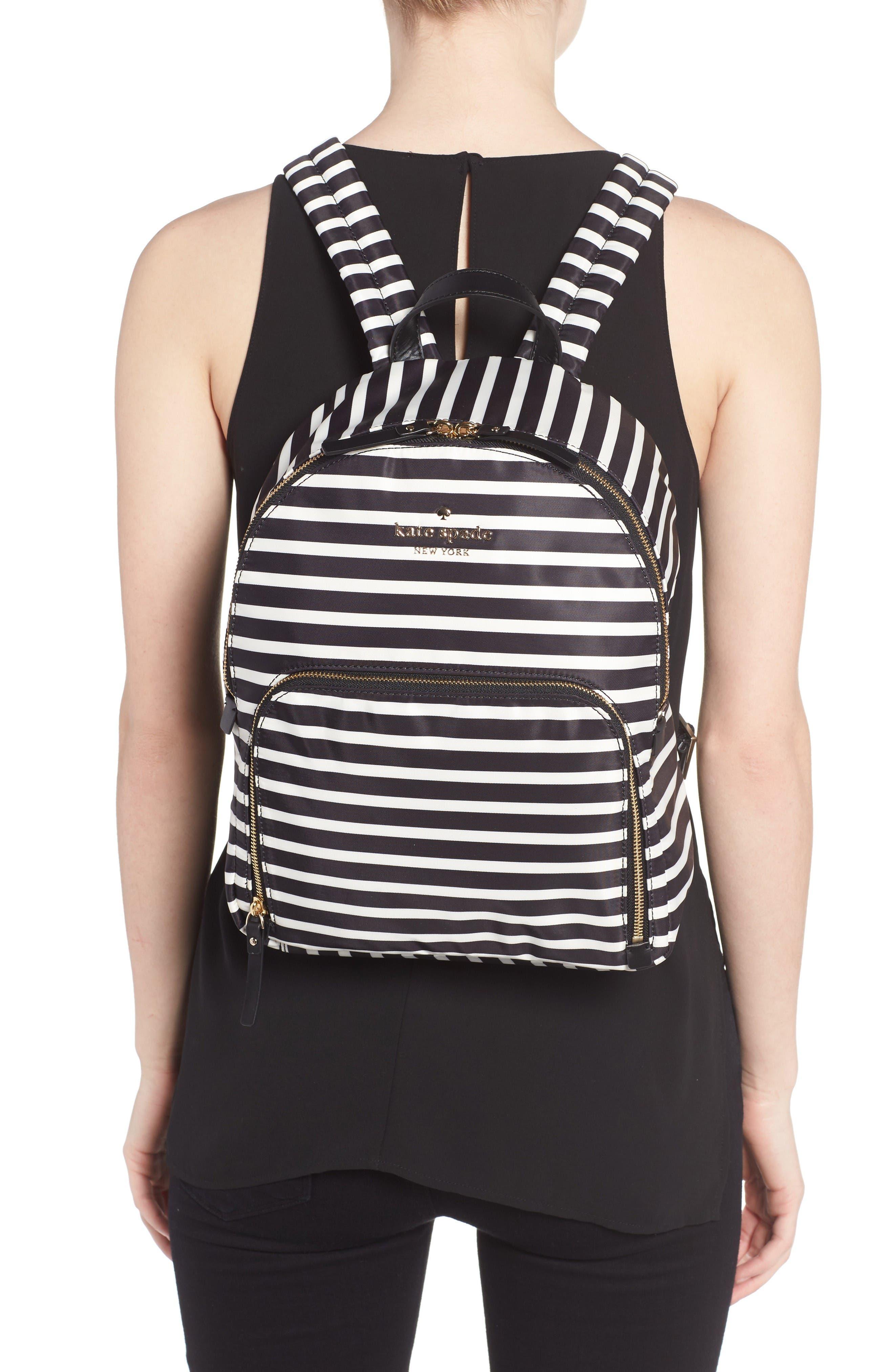 watson lane - hartley nylon backpack,                             Alternate thumbnail 2, color,                             Black/ Clotted Cream