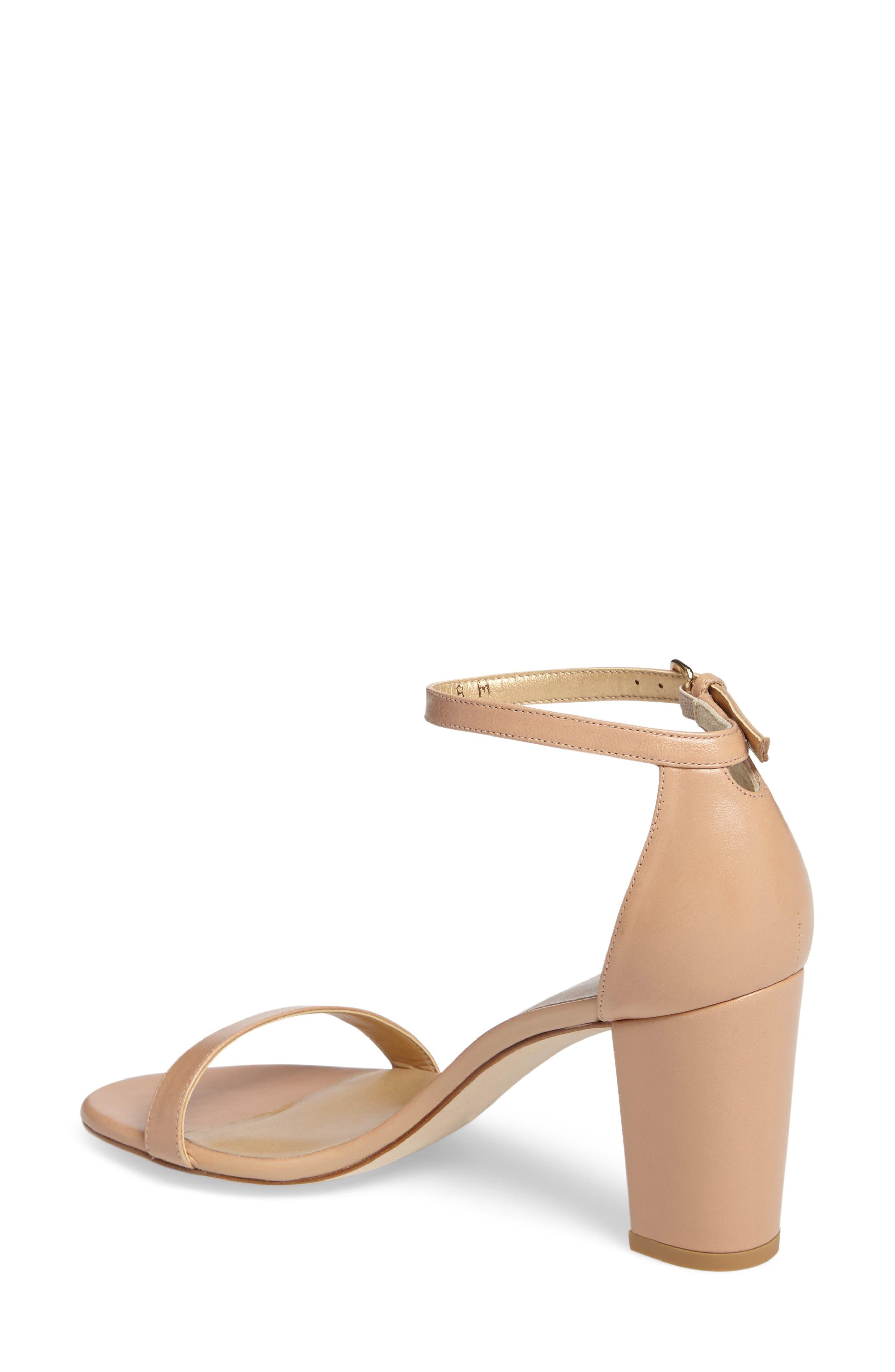 NearlyNude Ankle Strap Sandal,                             Alternate thumbnail 2, color,                             Bambina Nappa