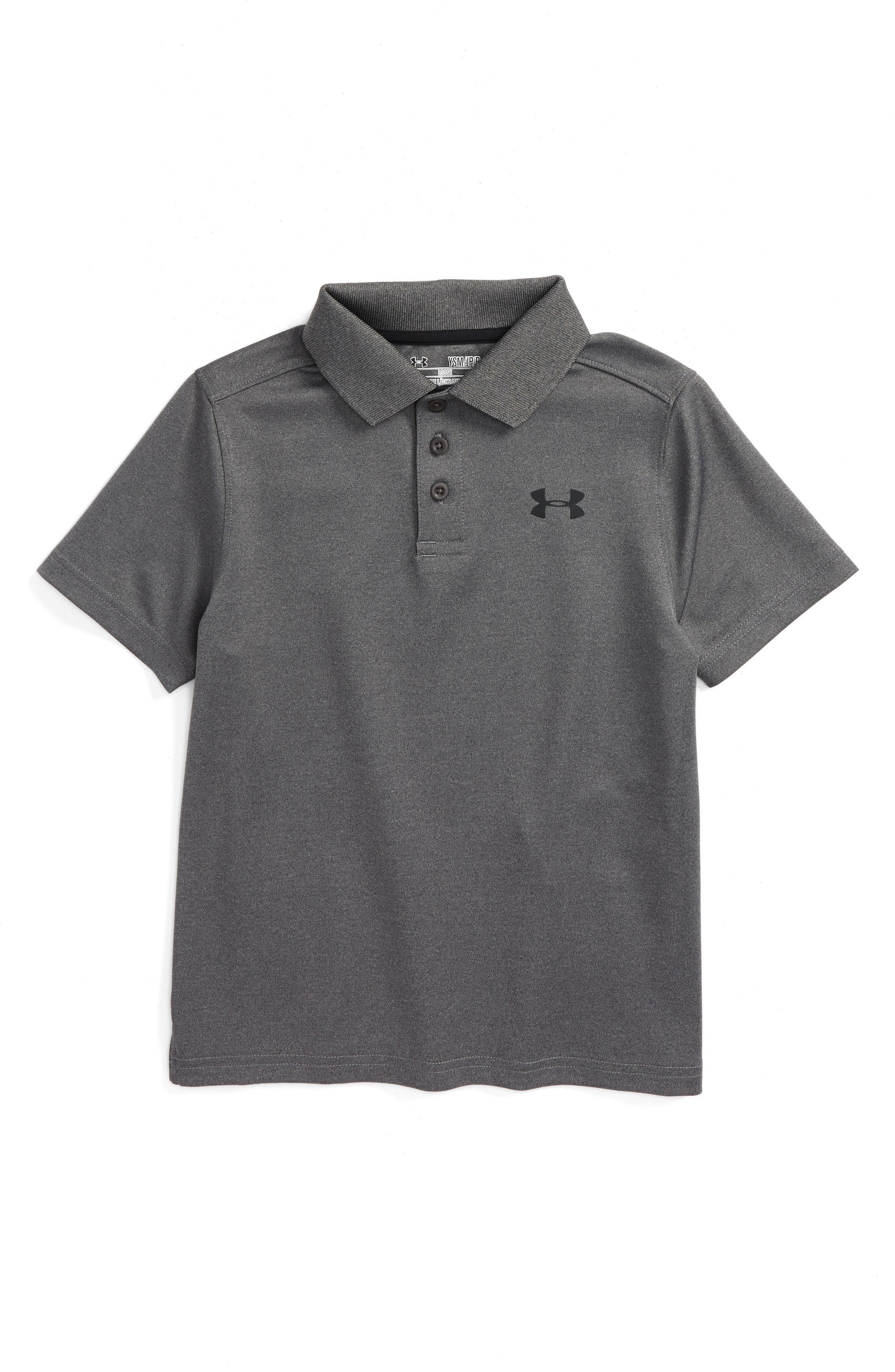 Alternate Image 1 Selected - Under Armour Performance HeatGear® Polo (Little Boys & Big Boys)