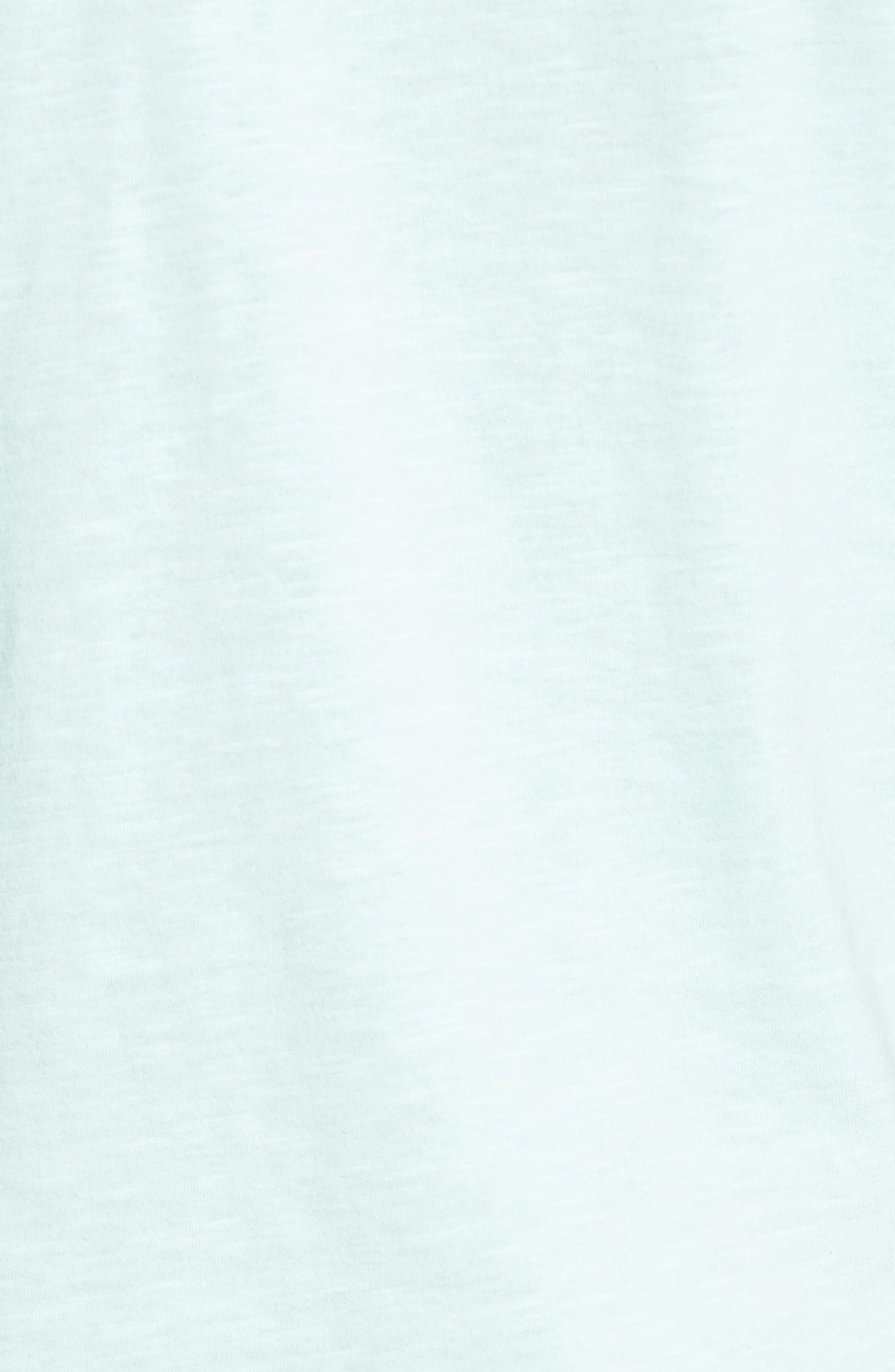Slub Cotton V-Neck T-Shirt,                             Alternate thumbnail 5, color,                             Olive Grove