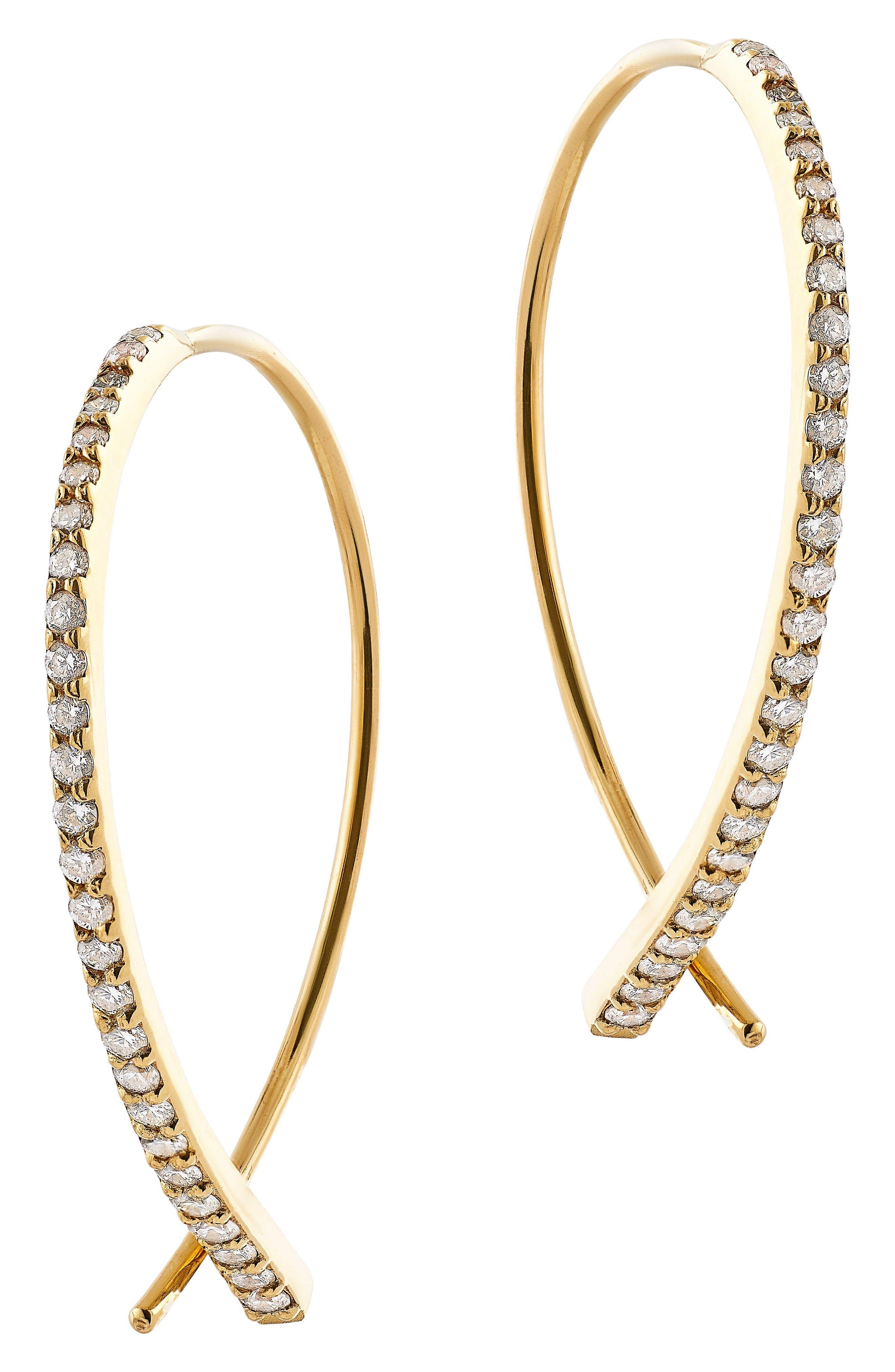SMALL UPSIDE DOWN FLAWLESS DIAMOND EARRINGS