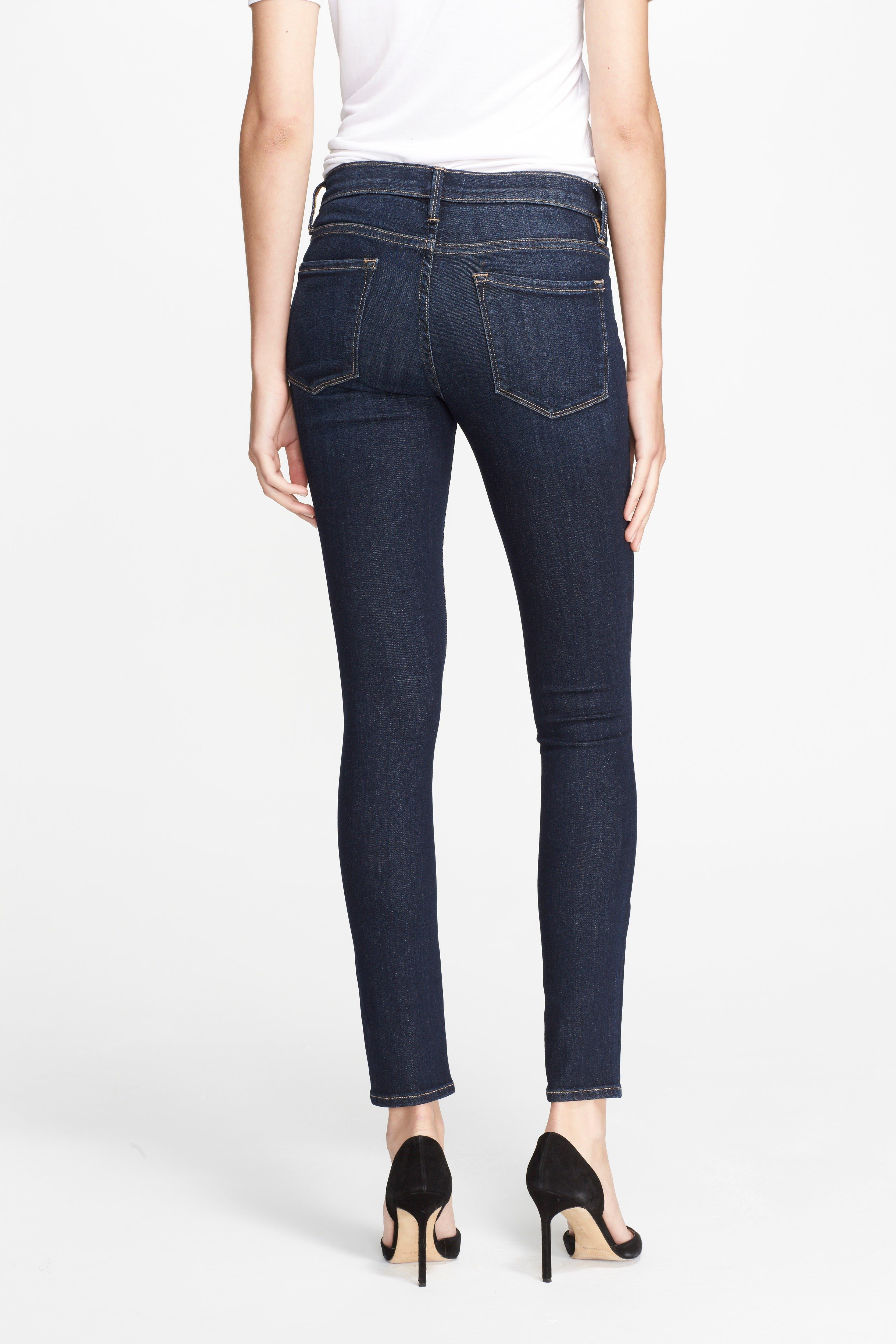Le Skinny de Jeanne Jeans,                             Alternate thumbnail 3, color,                             Queensway