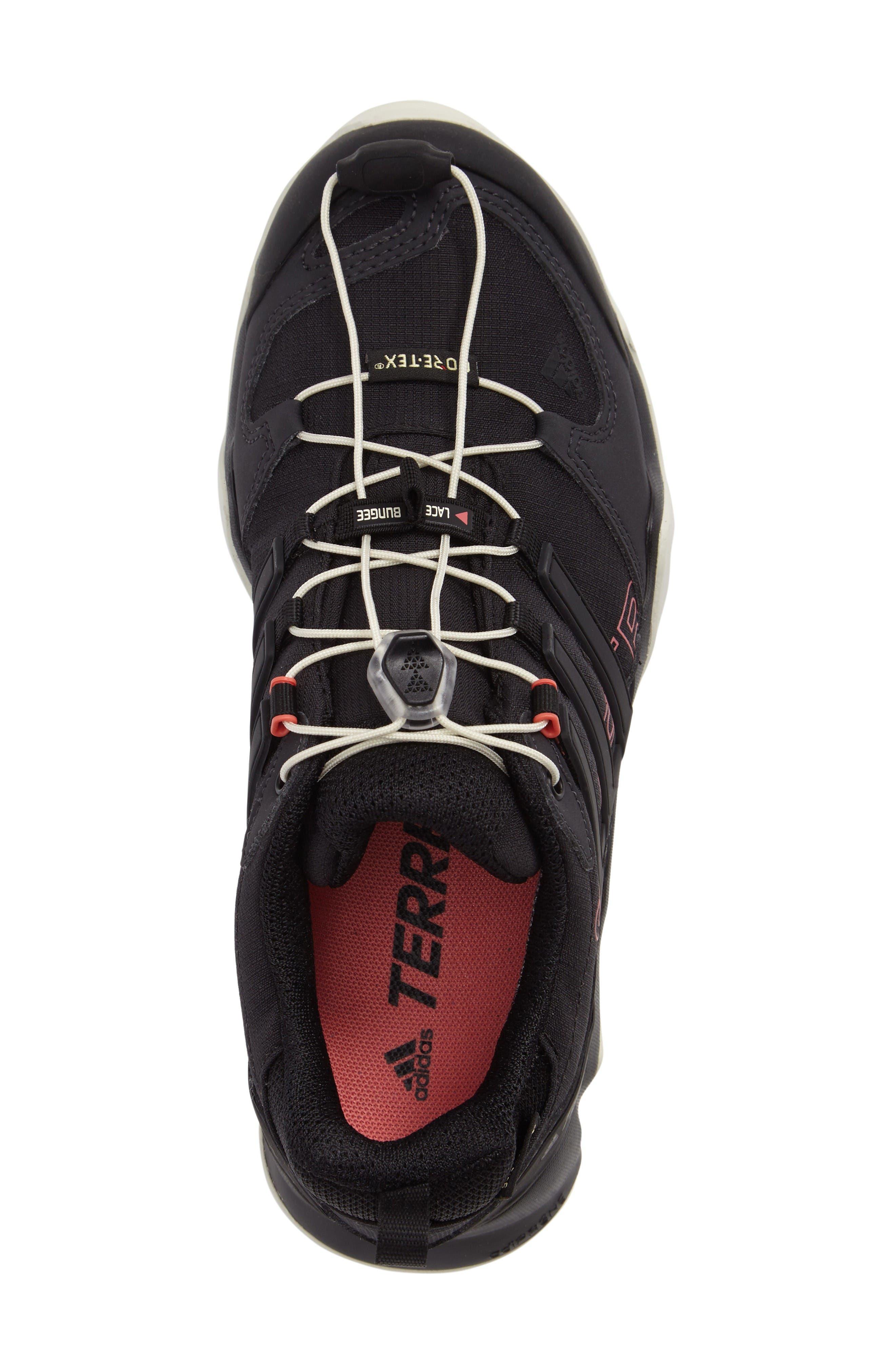 Terrex Swift R GTX Hiking Shoe,                             Alternate thumbnail 3, color,                             Black/ Black/ Tactile Pink