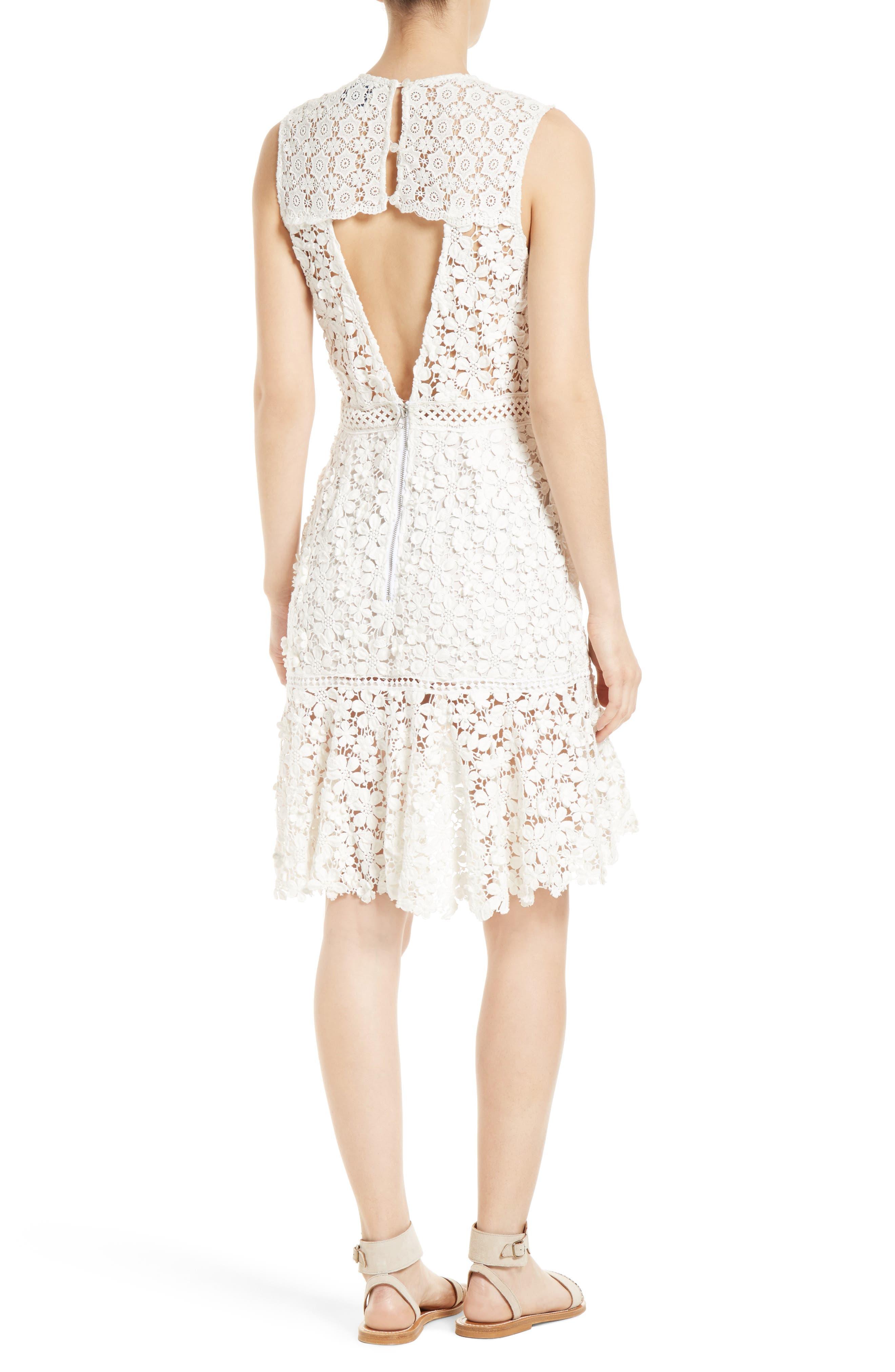 Alternate Image 2  - Sea 3D Crochet Sheath Dress