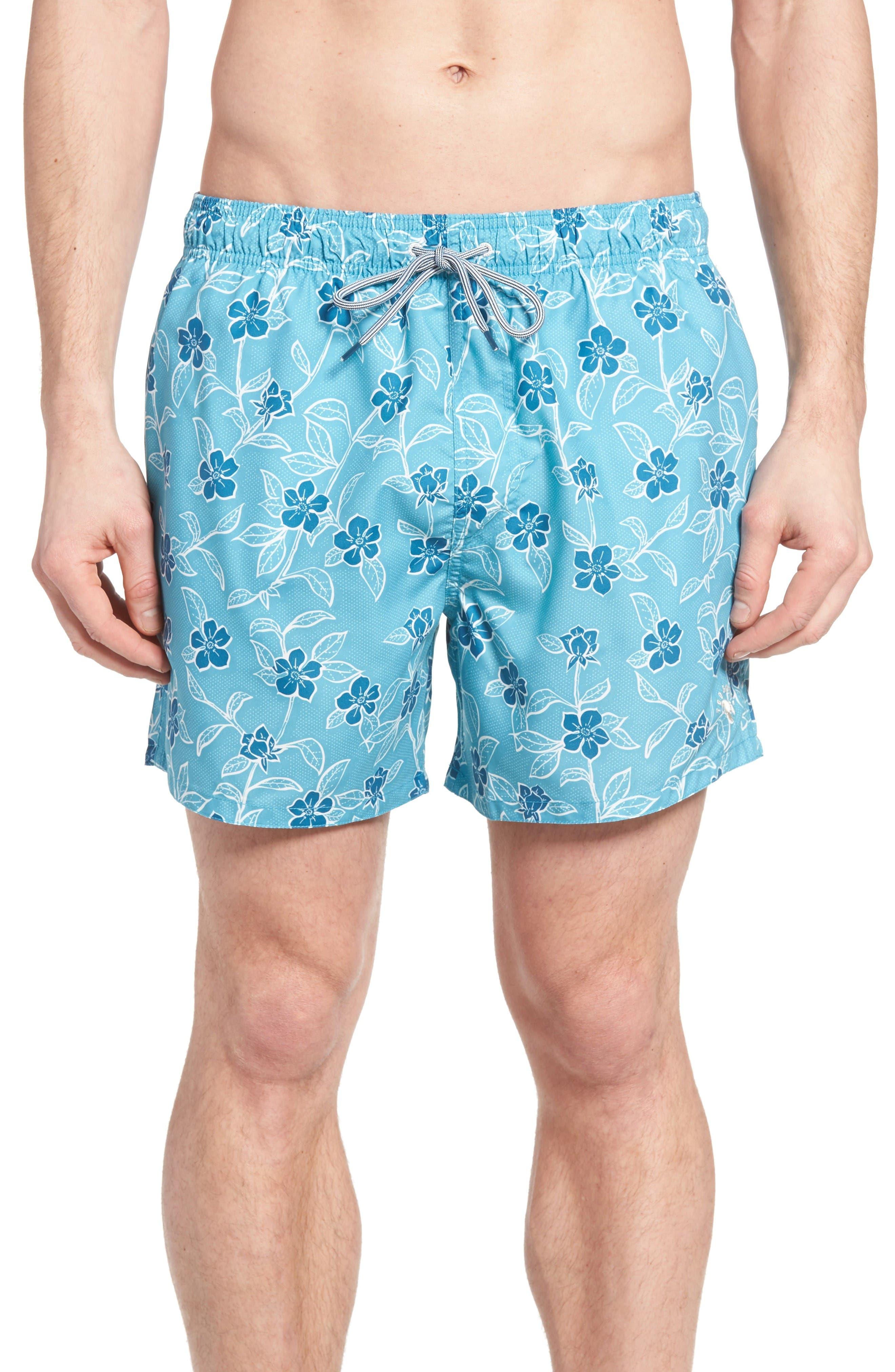 Ted Baker London Winda Floral Print Swim Trunks