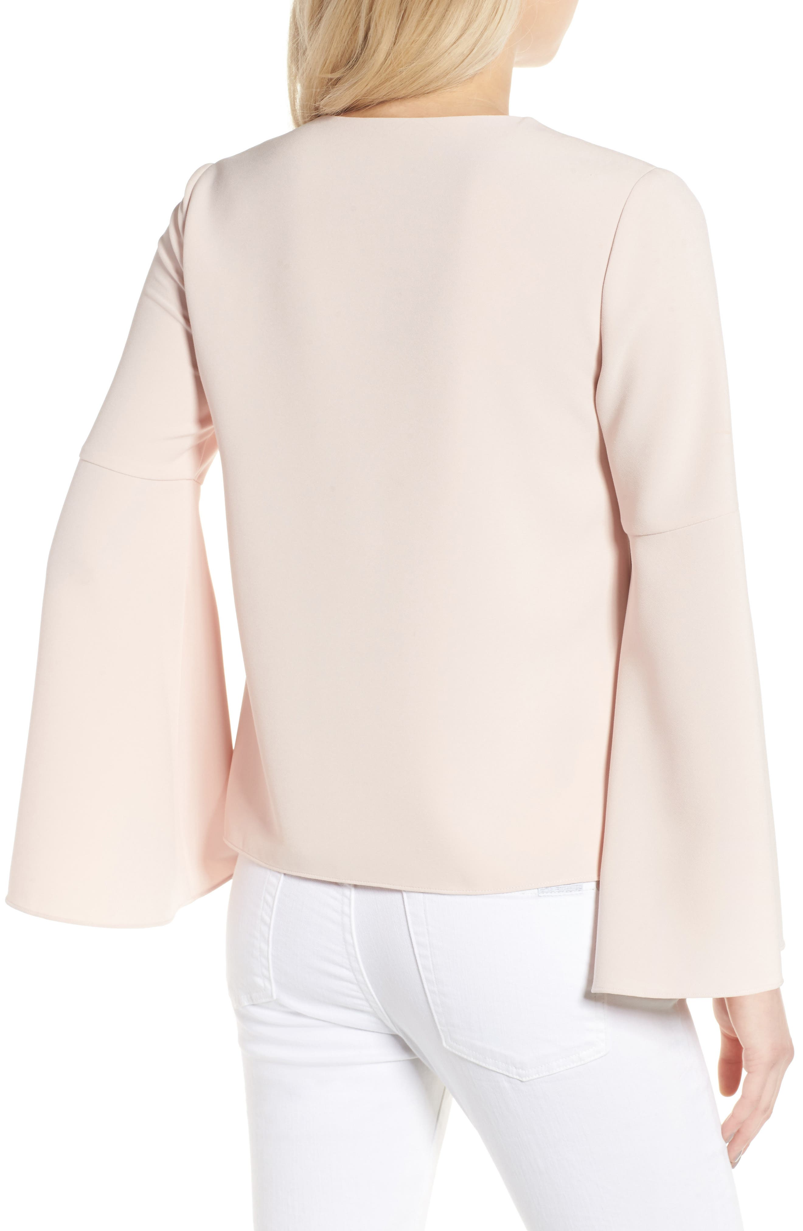 Marcela Bell Sleeve Top,                             Alternate thumbnail 2, color,                             Pale Pink