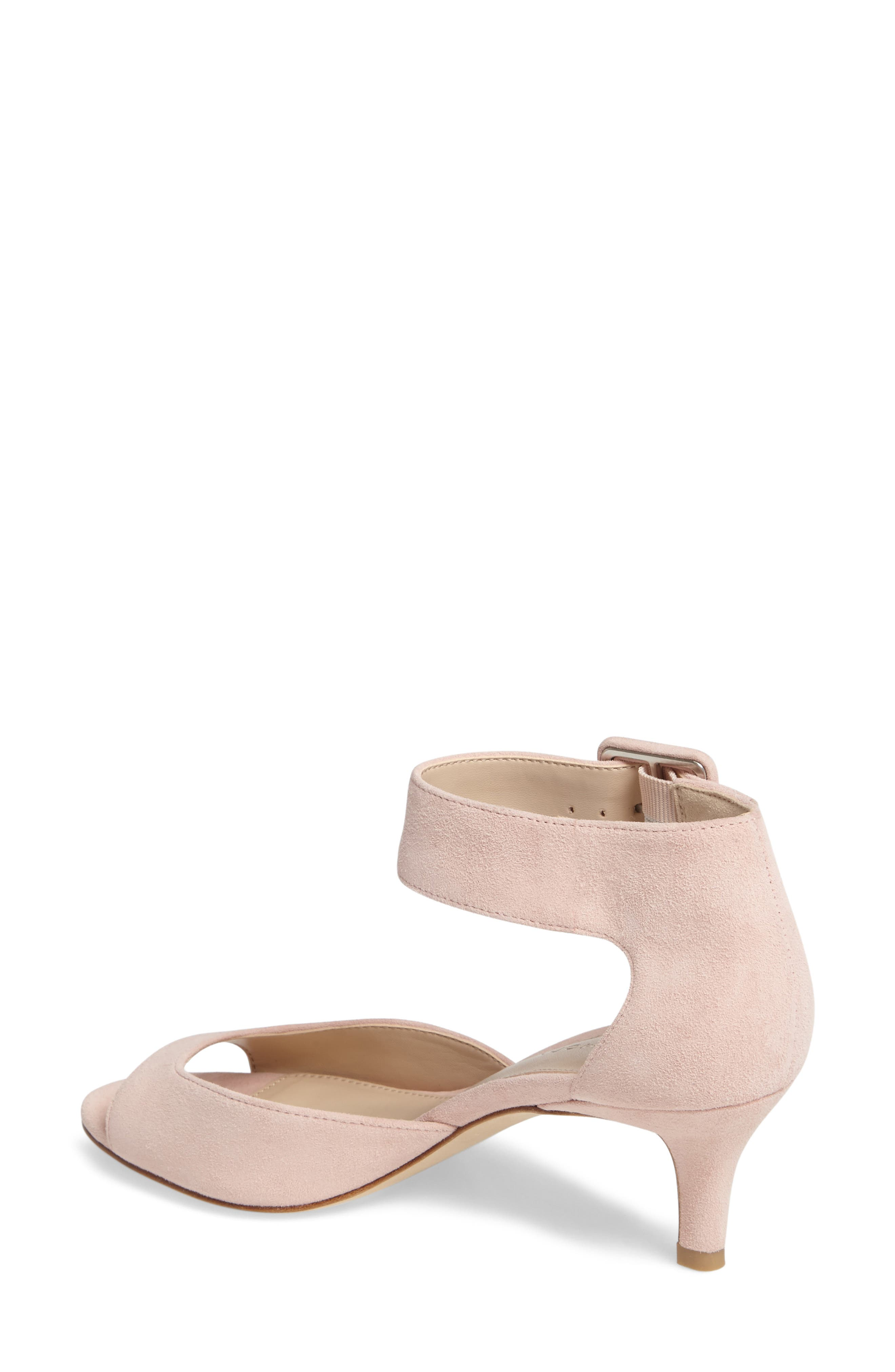 'Berlin' Ankle Strap Sandal,                             Alternate thumbnail 2, color,                             Pale Pink Leather