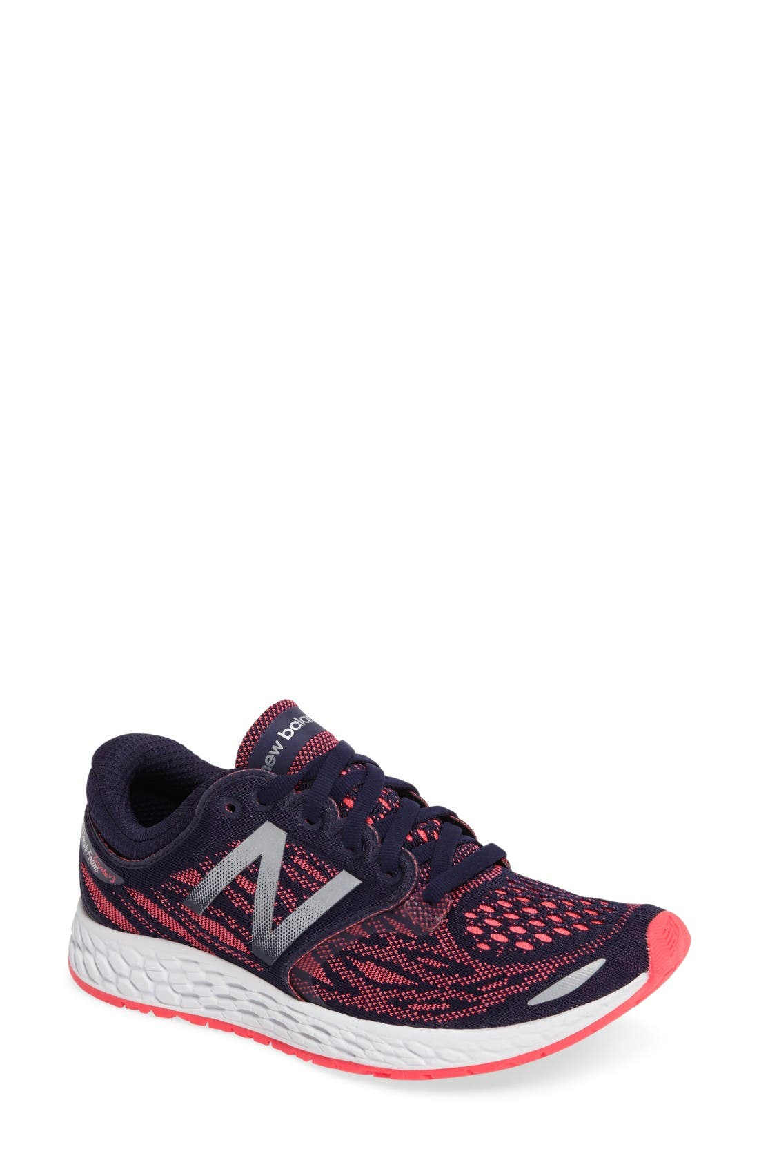 new balance shoes red. main image - new balance zante v3 running shoe (women) shoes red l