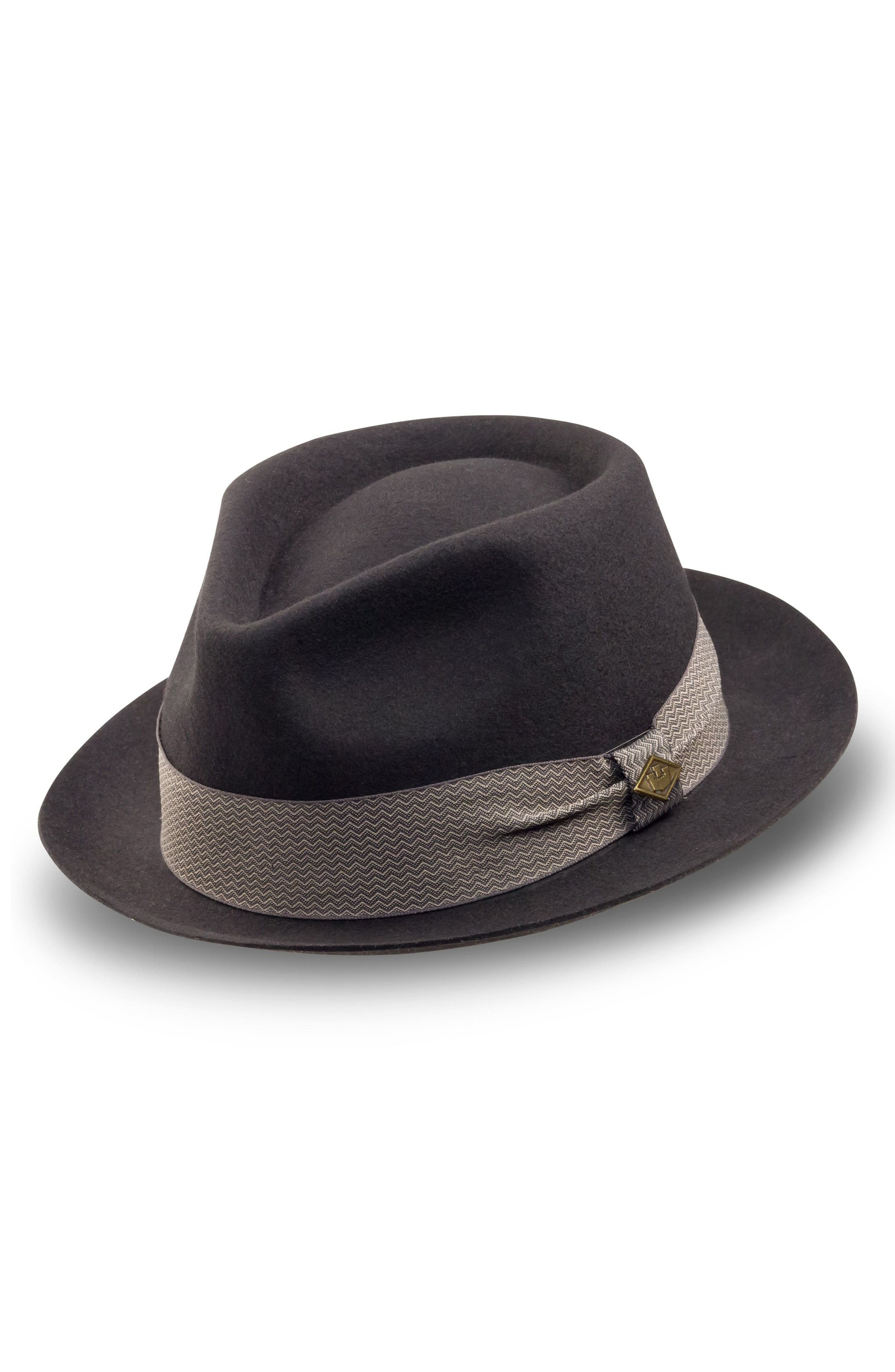 'Griffin' Wool Fedora,                         Main,                         color, Black