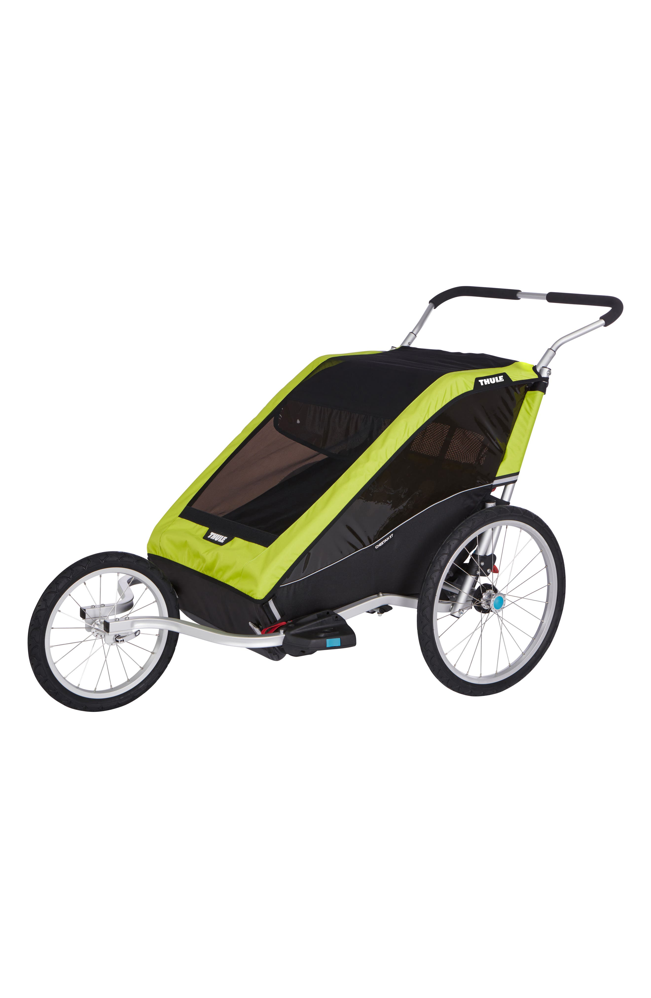 Chariot Cheetah XT 2 Multisport Double Cycle Trailer/Stroller,                             Alternate thumbnail 2, color,                             Chartreuse