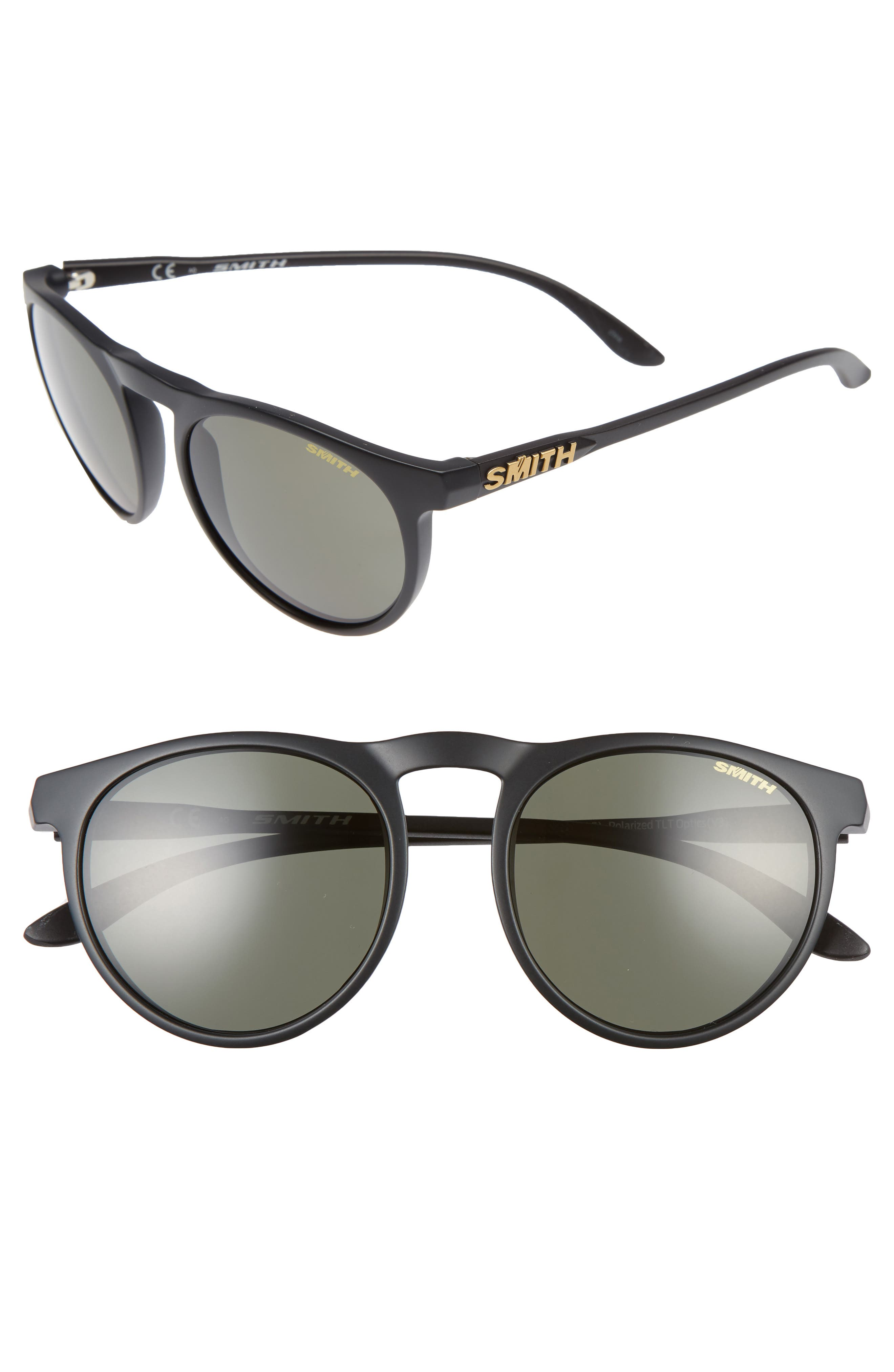 Alternate Image 1 Selected - Smith Marvine 52mm Polarized Round Sunglasses