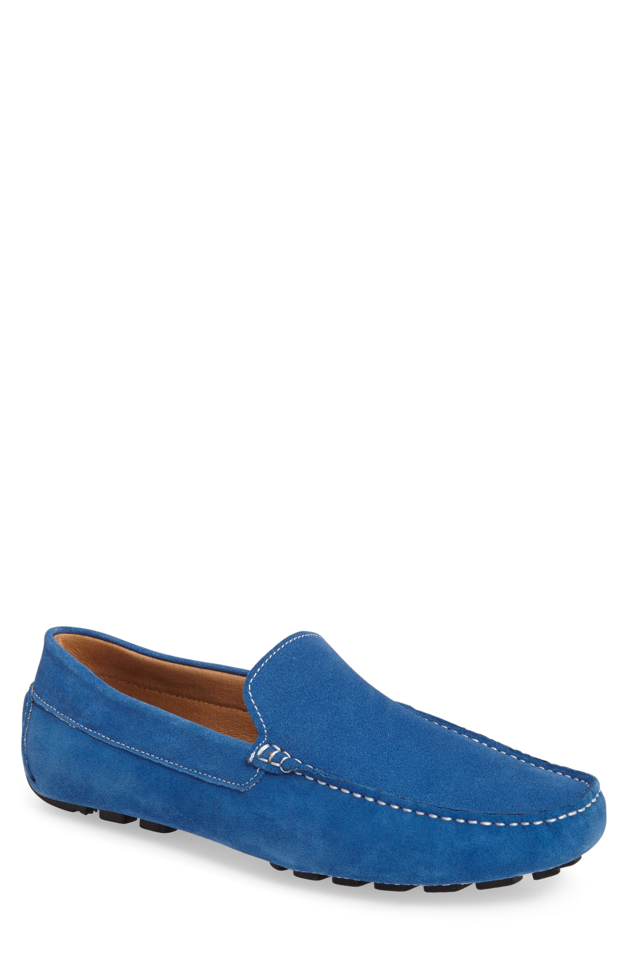 'Picasso' Slip-On Driver,                             Main thumbnail 1, color,                             Royal Suede
