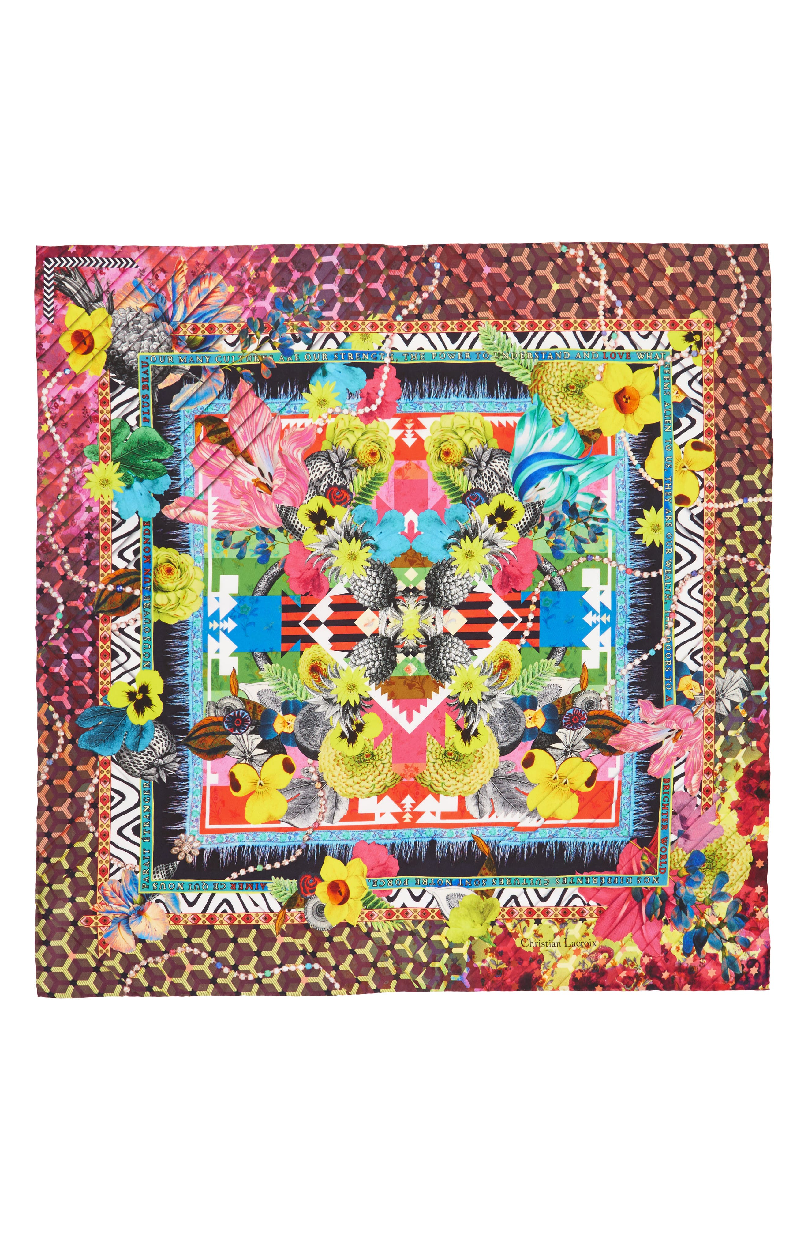 Christian Lacroix Pretty Voodoo Square Silk Scarf
