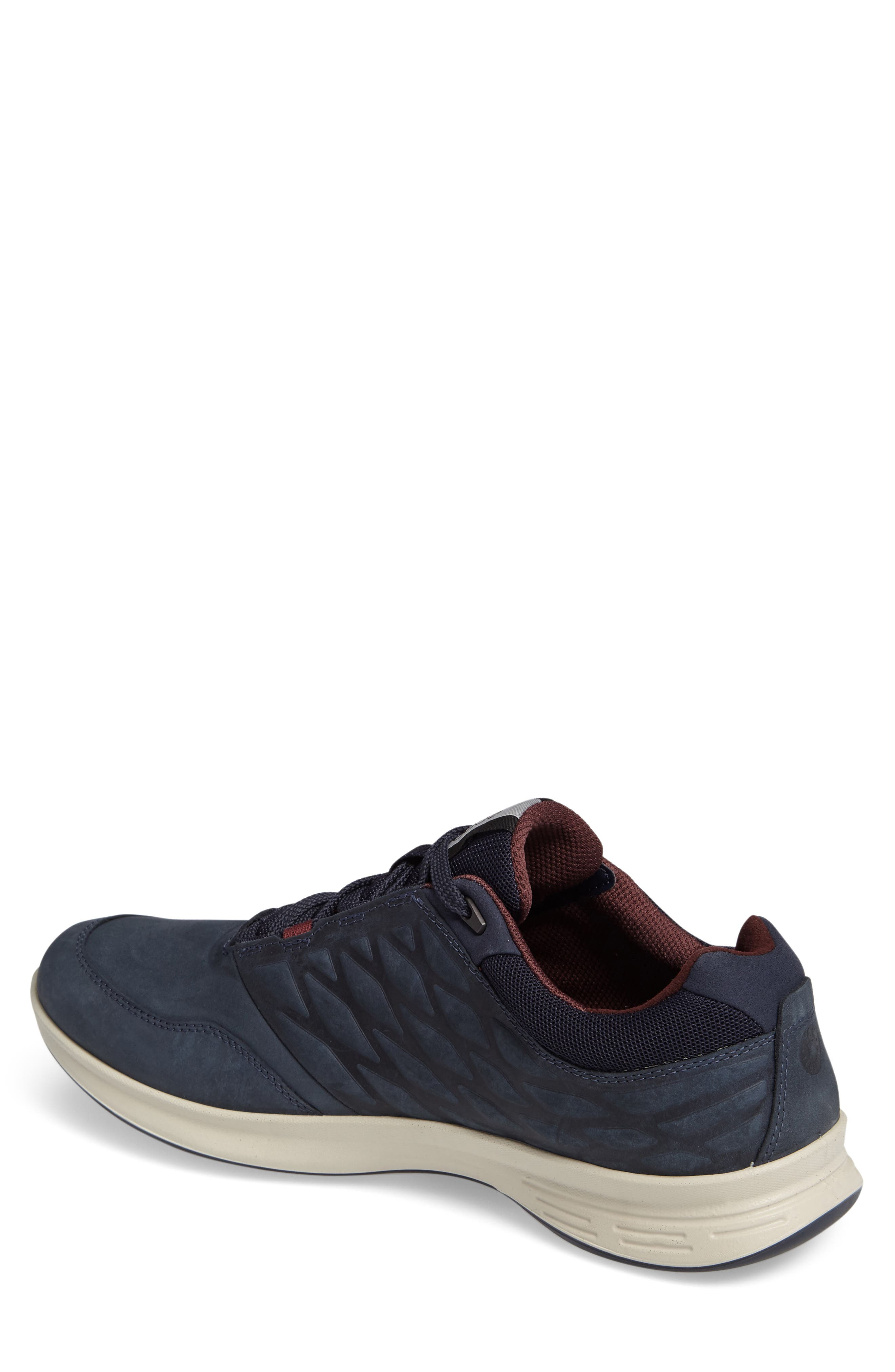 'Exceed' Leather Sneaker,                             Alternate thumbnail 2, color,                             Marine