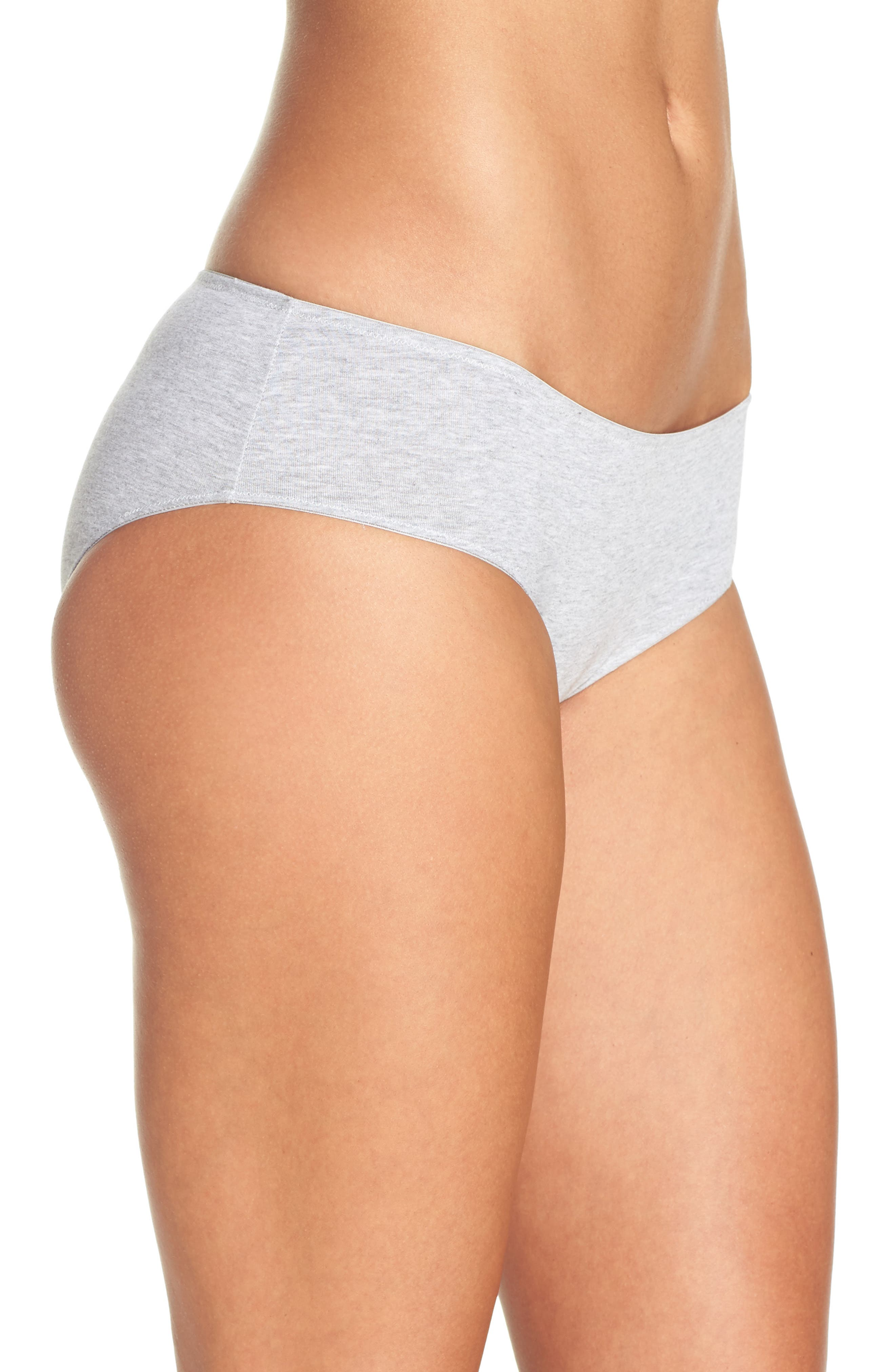 Hipster Panties,                             Alternate thumbnail 3, color,                             Heathered Pelican