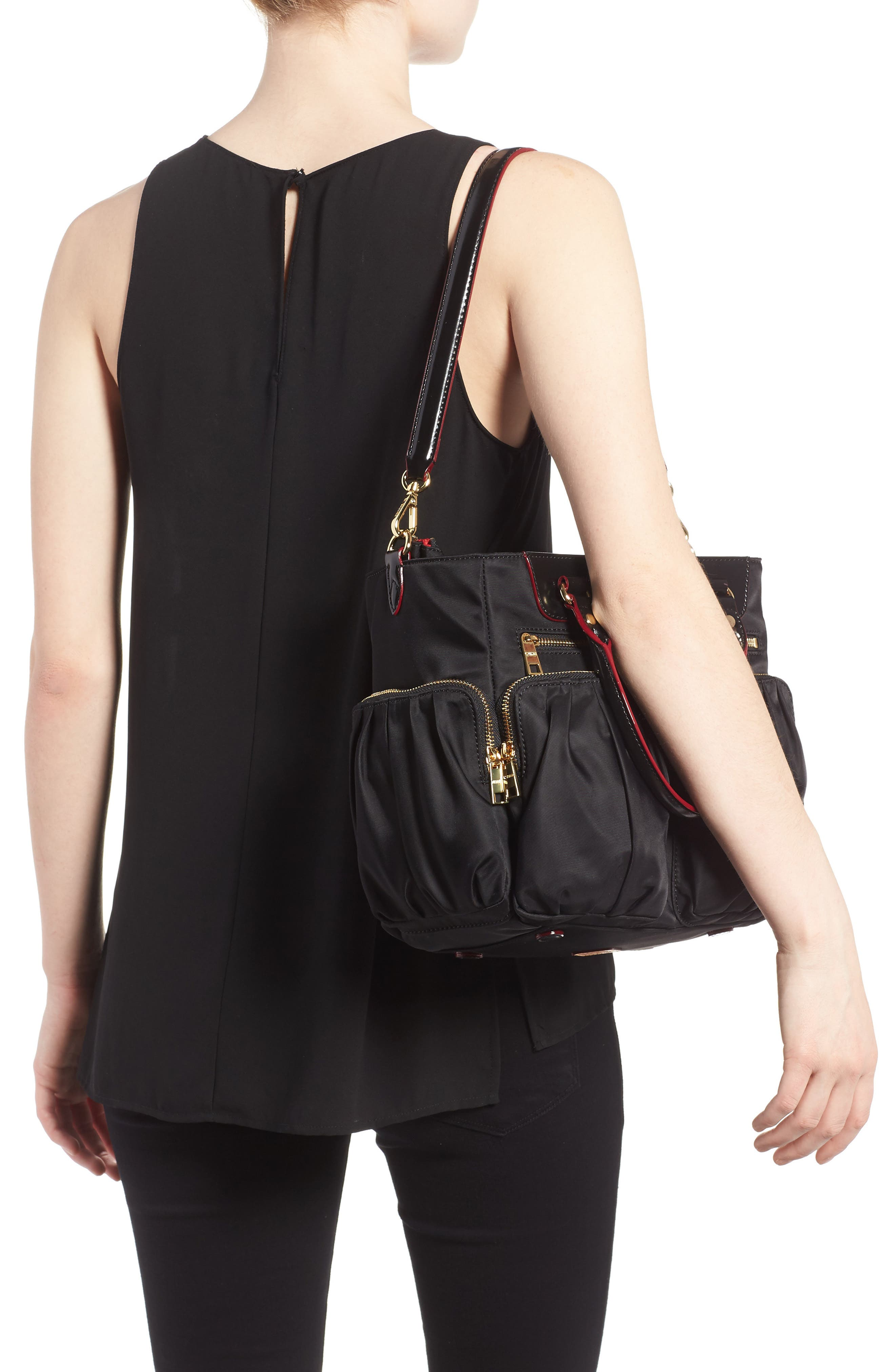 Small Abbey Tote,                             Alternate thumbnail 2, color,                             Black Bedford