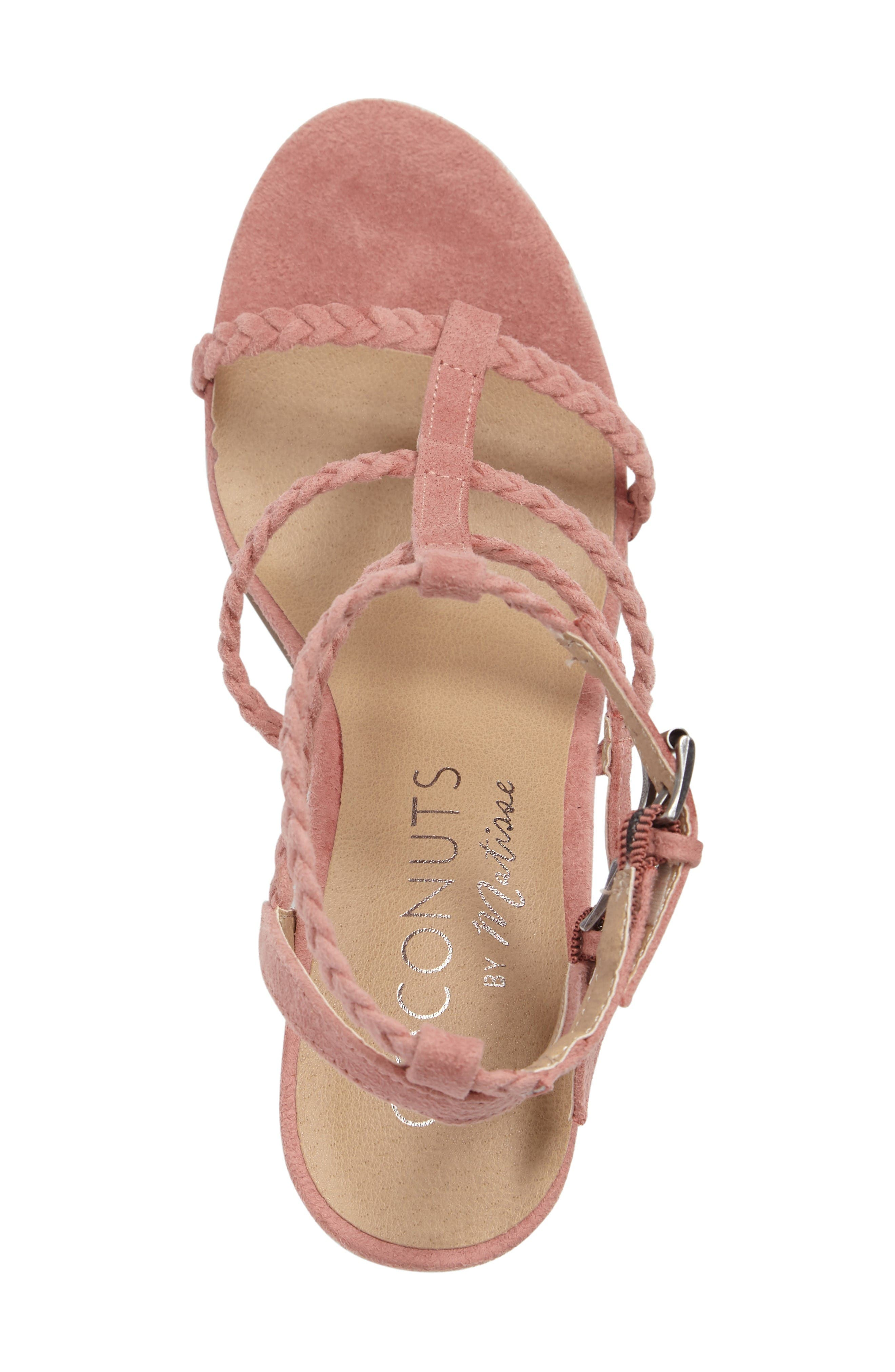 Coconuts by Matisse Cora Sandal,                             Alternate thumbnail 3, color,                             Pink Suede