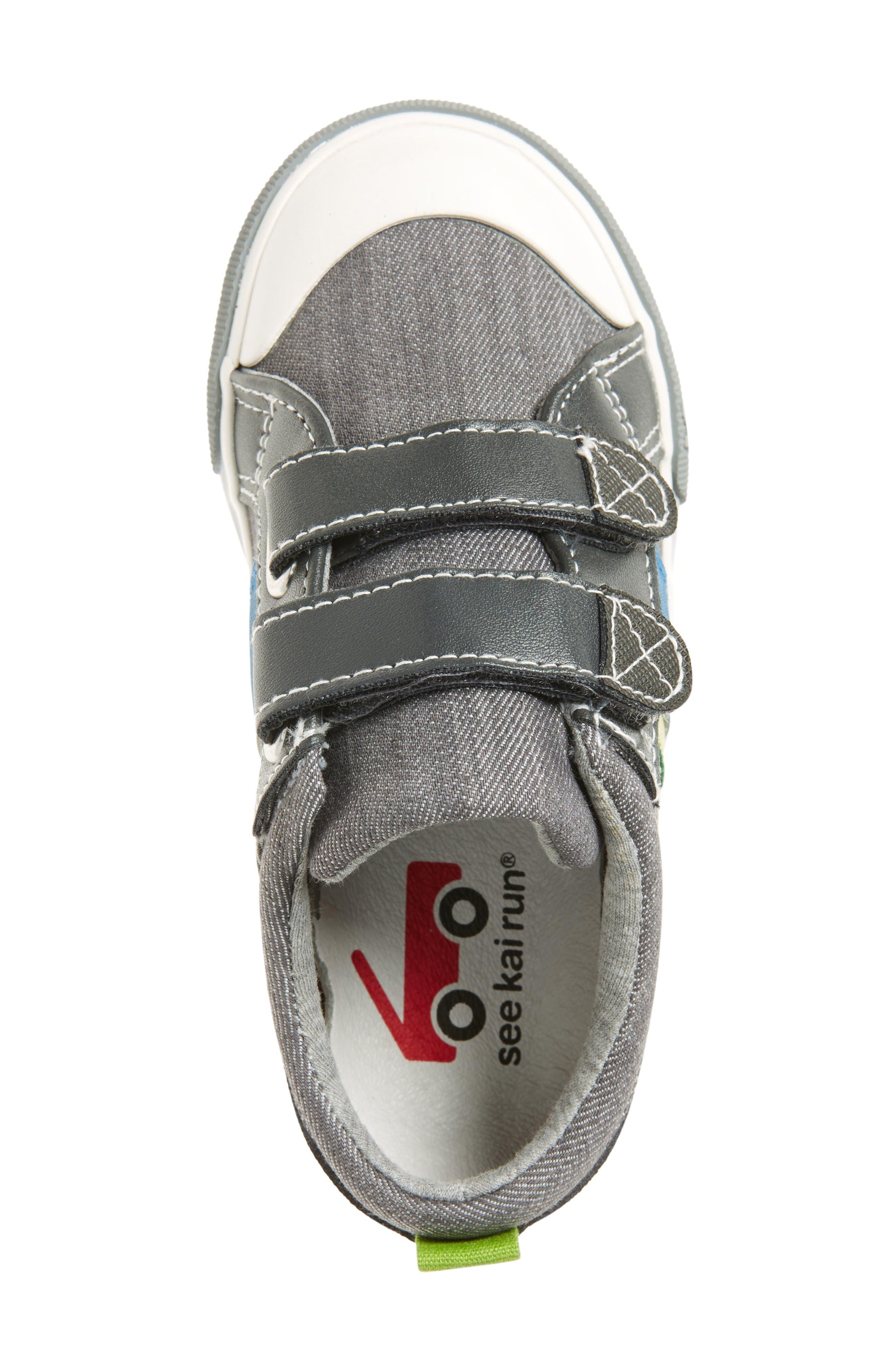 Russell Sneaker,                             Alternate thumbnail 3, color,                             Grey Denim
