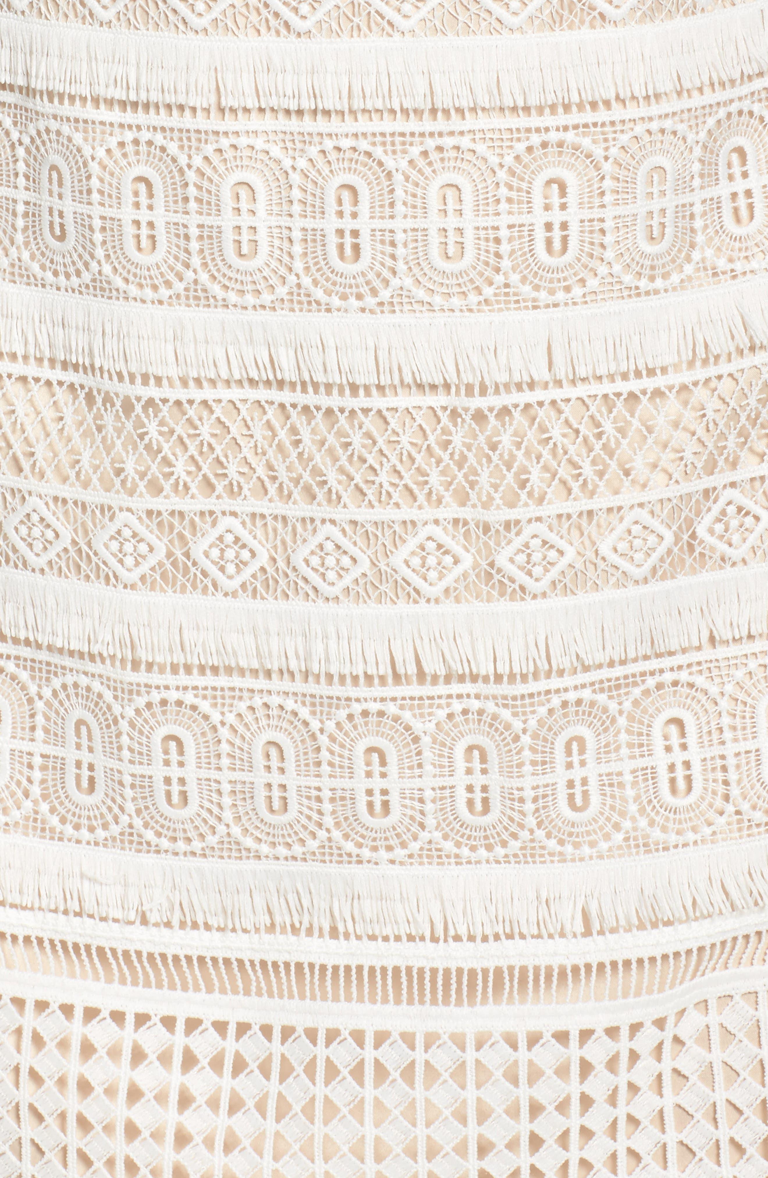 Lace Shift Dress,                             Alternate thumbnail 7, color,                             Ivory