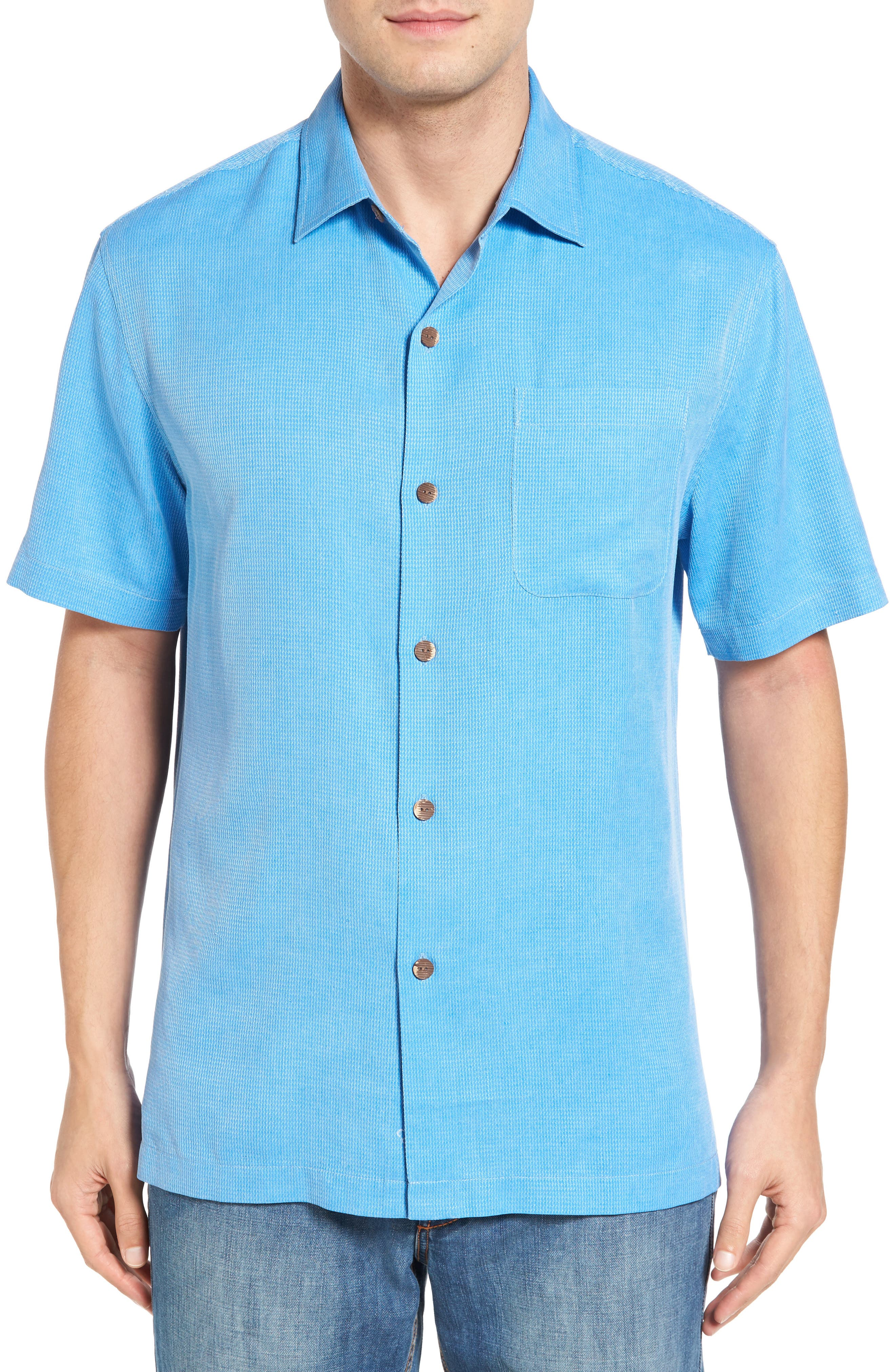 TOMMY BAHAMA Coastal San Clemente Regular Fit Silk Camp Shirt